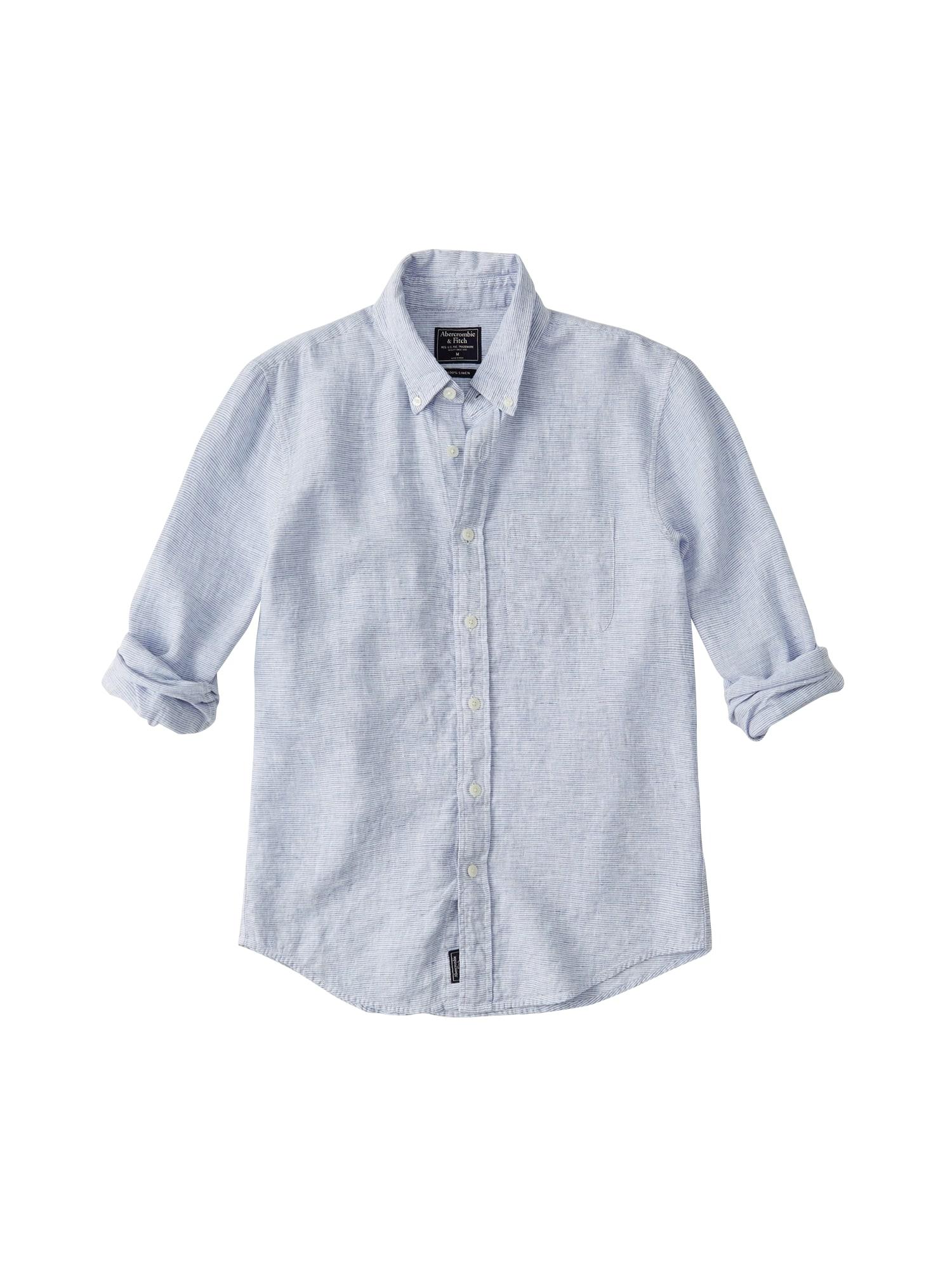 Košile modrá Abercrombie & Fitch