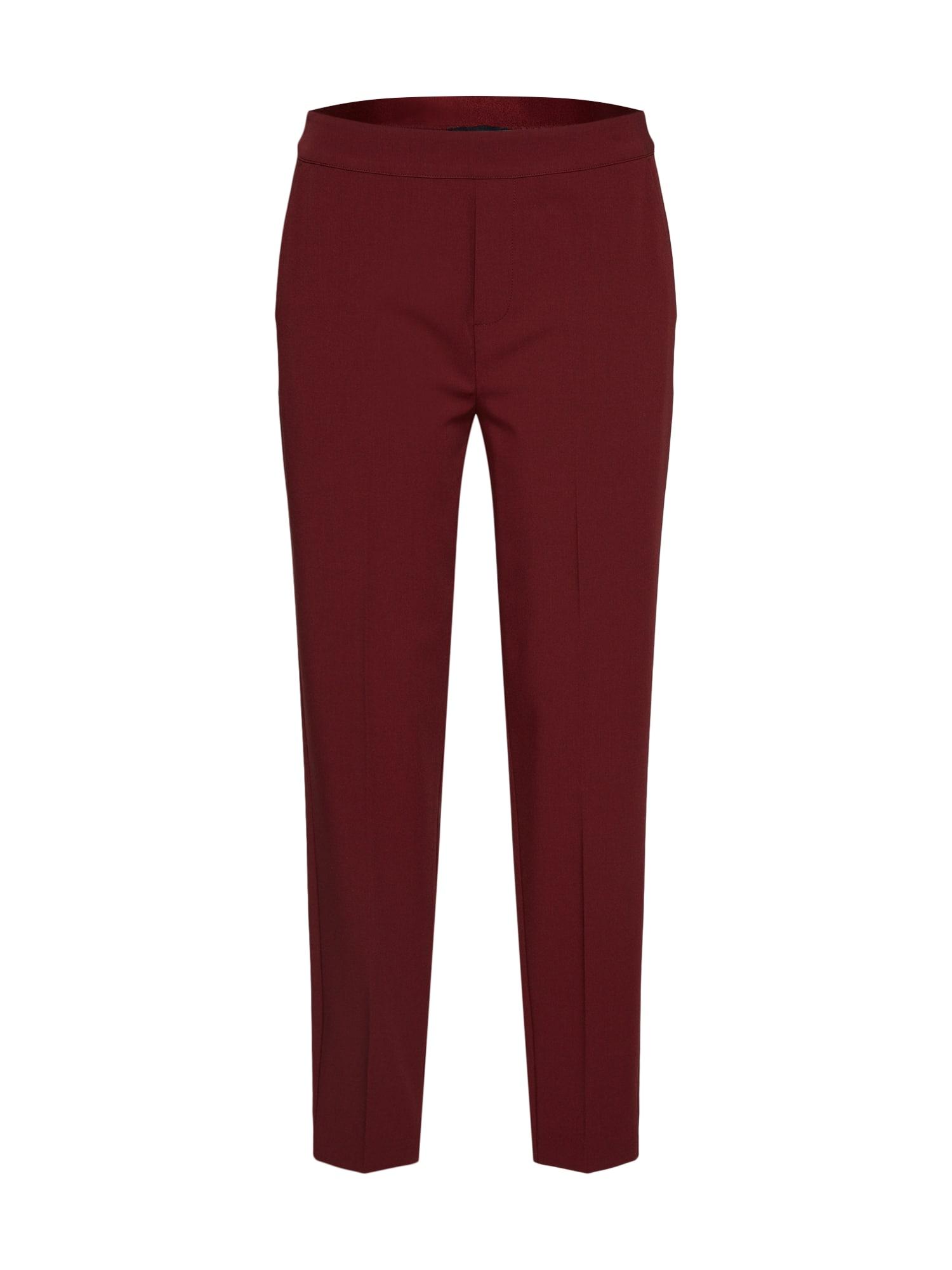 Kalhoty se sklady v pase OBJCECILIE MW 78 PANTS bordó OBJECT