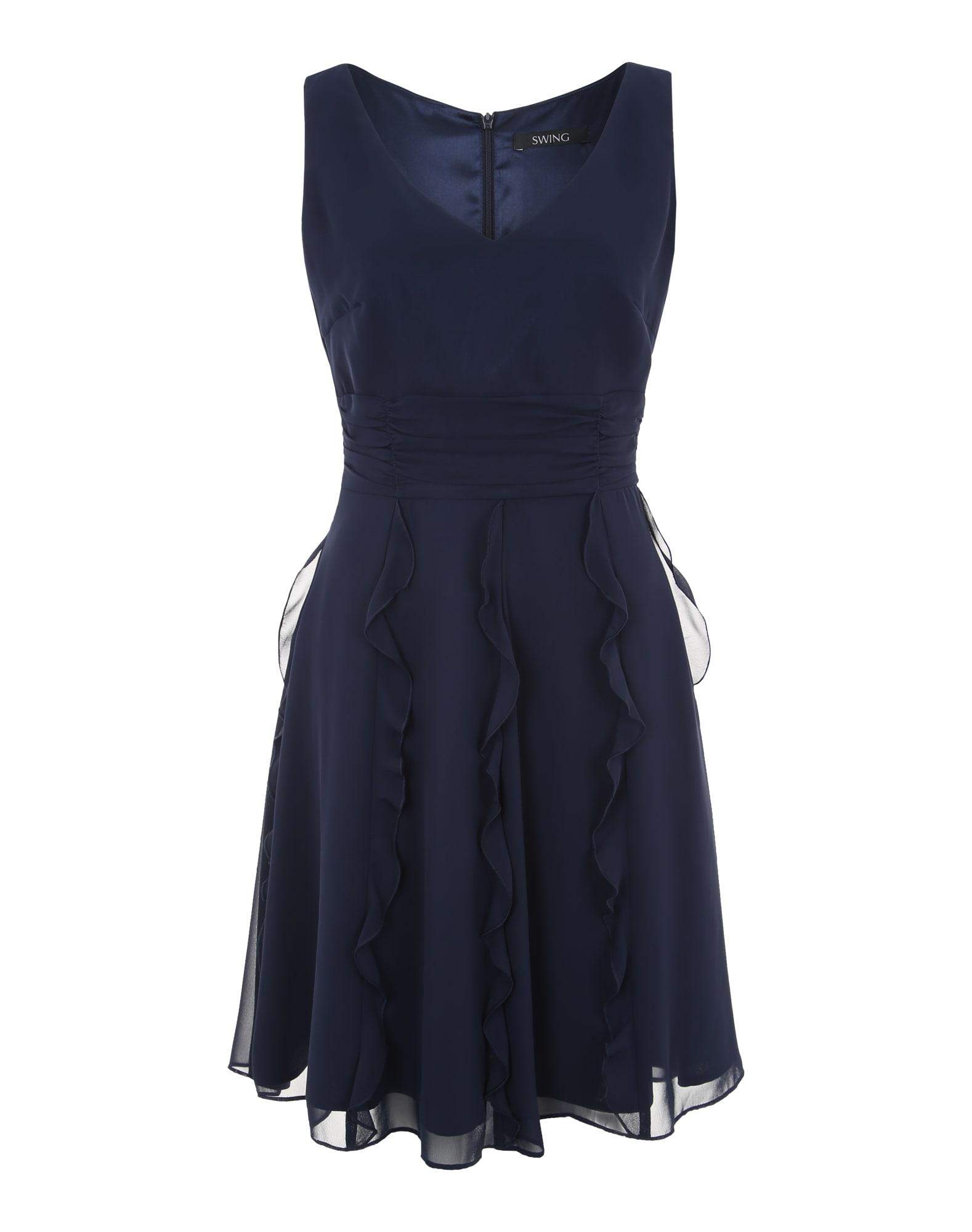SWING Sukienka koktajlowa  ciemny niebieski