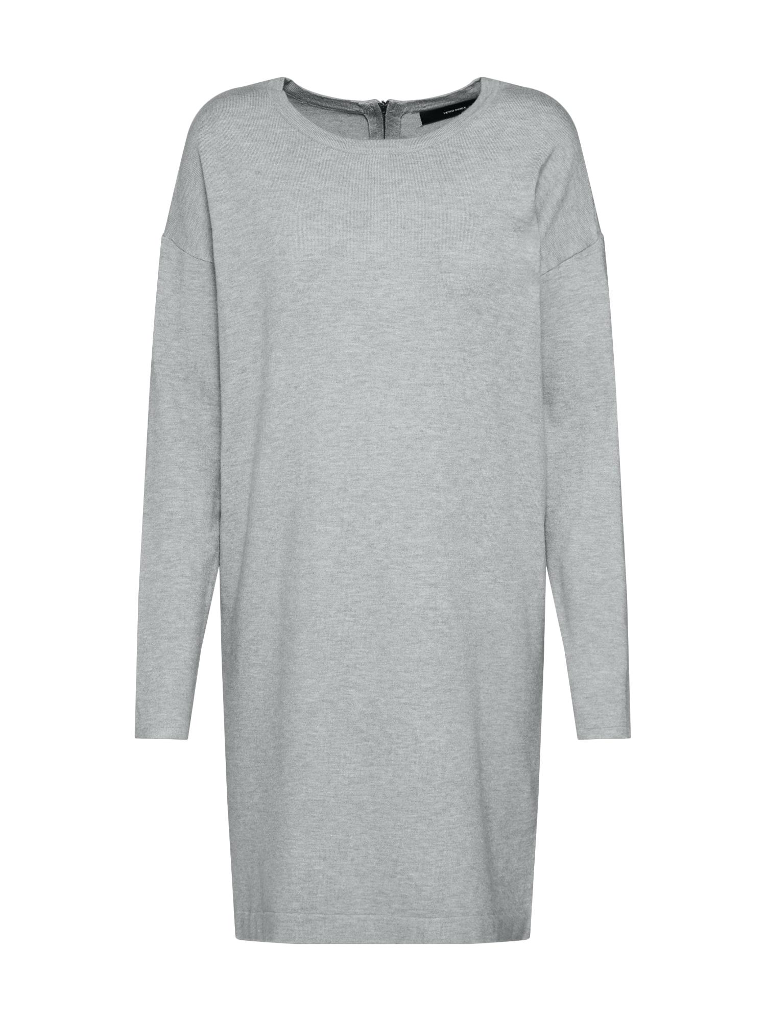 Úpletové šaty VMHAPPY světle šedá VERO MODA