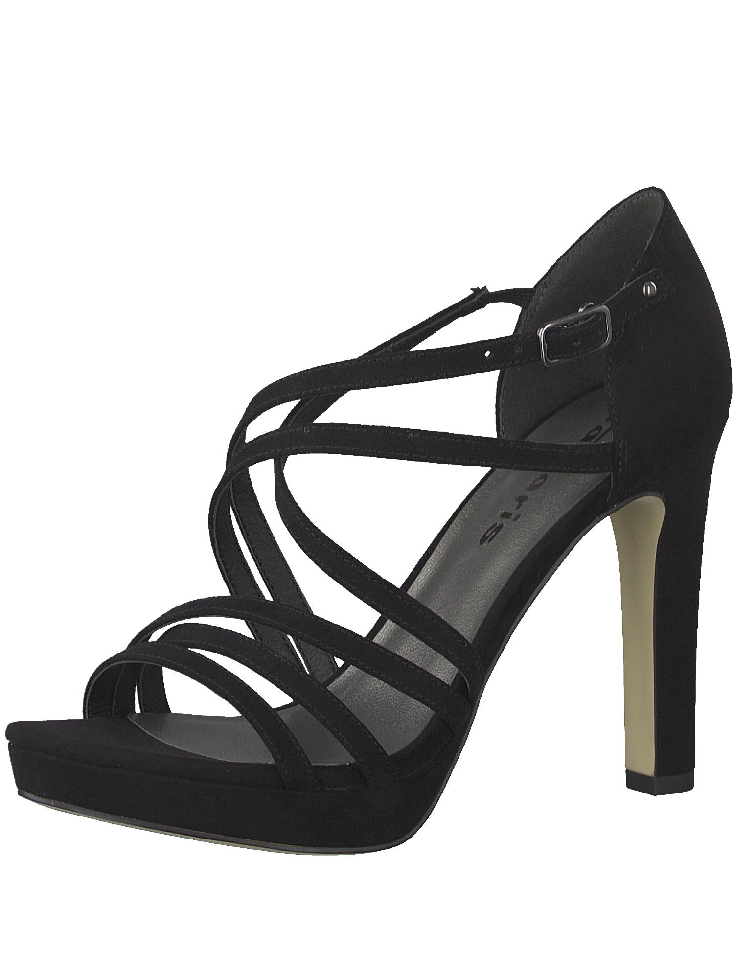 Páskové sandály Strappy Heel černá TAMARIS
