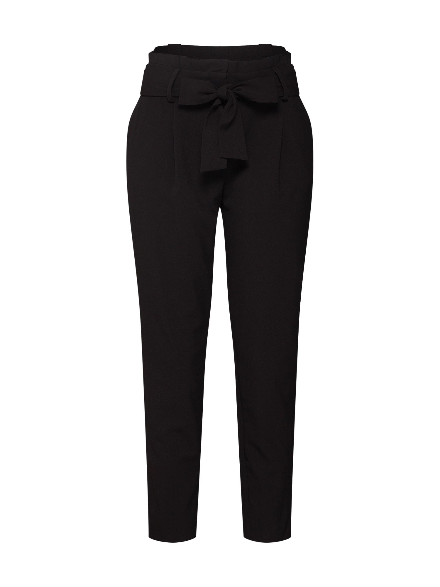 Kalhoty se sklady v pase FINI černá ONLY