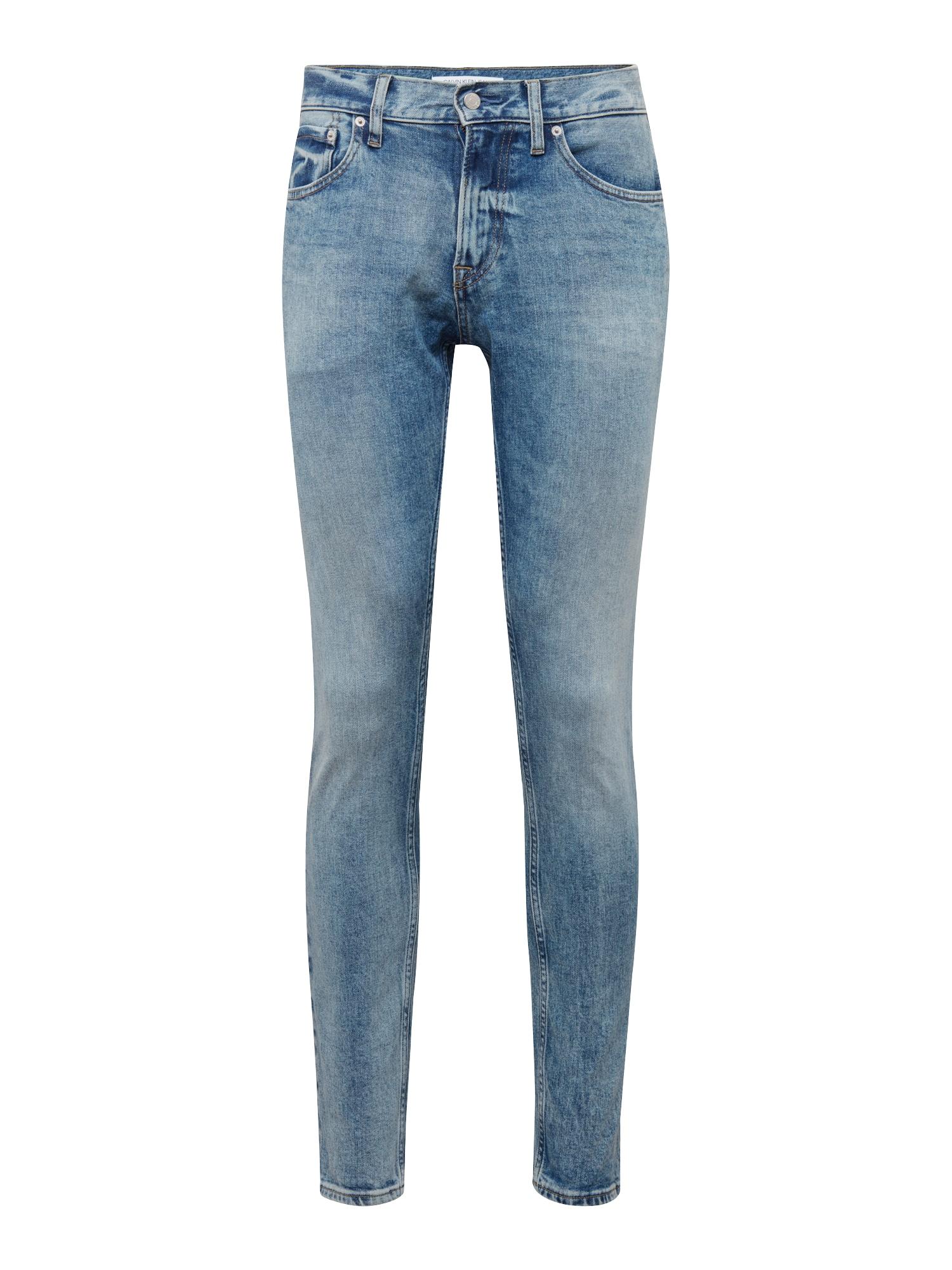 Džíny CKJ 056 ATHLETIC TAPER modrá džínovina Calvin Klein Jeans