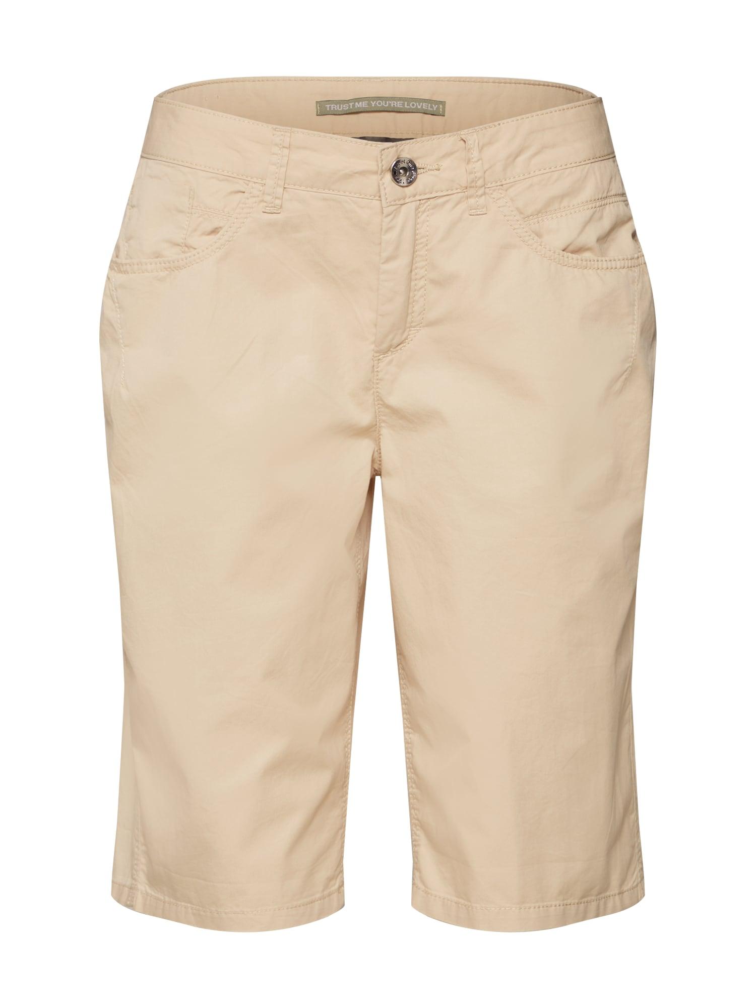 Kalhoty QR Jane Bermuda Papertouch světle béžová STREET ONE