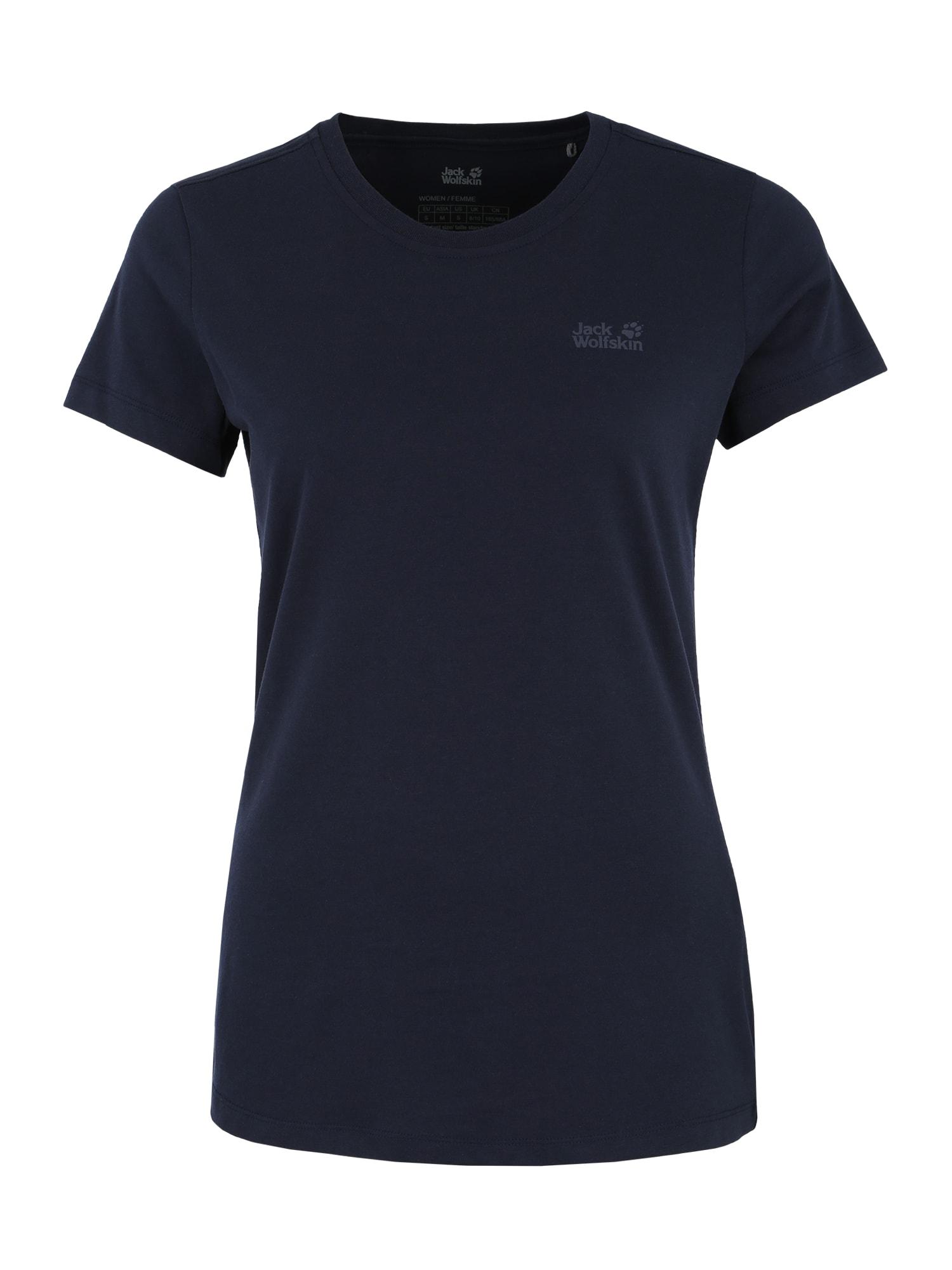 Funkční tričko ESSENTIAL noční modrá JACK WOLFSKIN