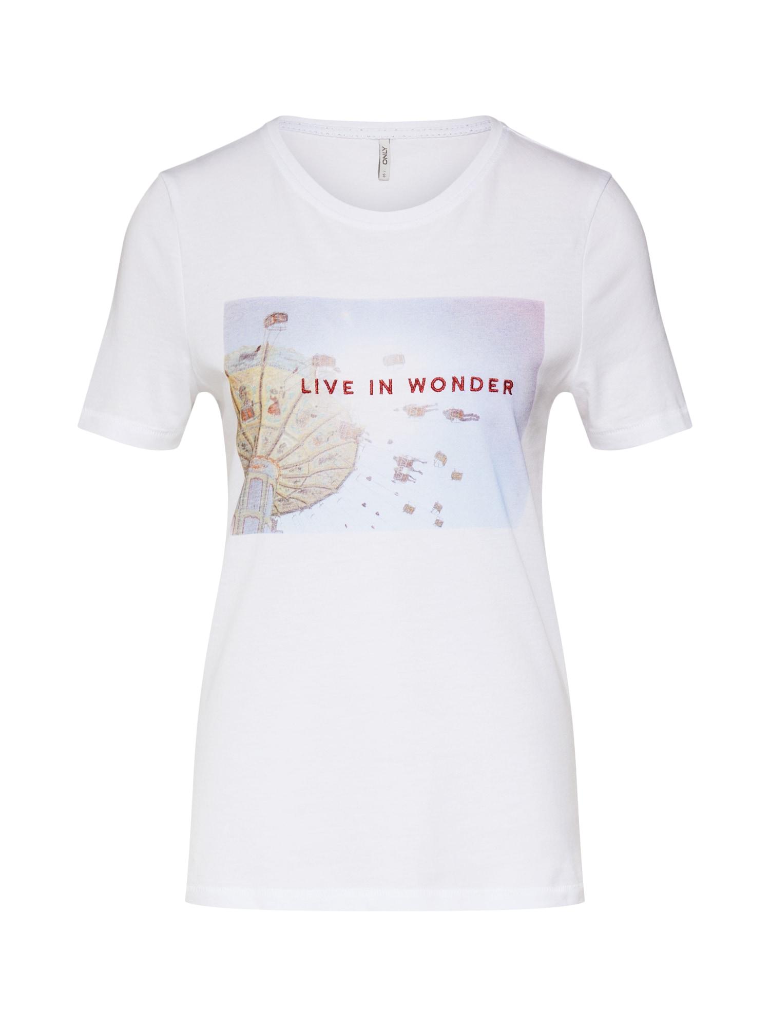 Tričko INDRE bílá ONLY