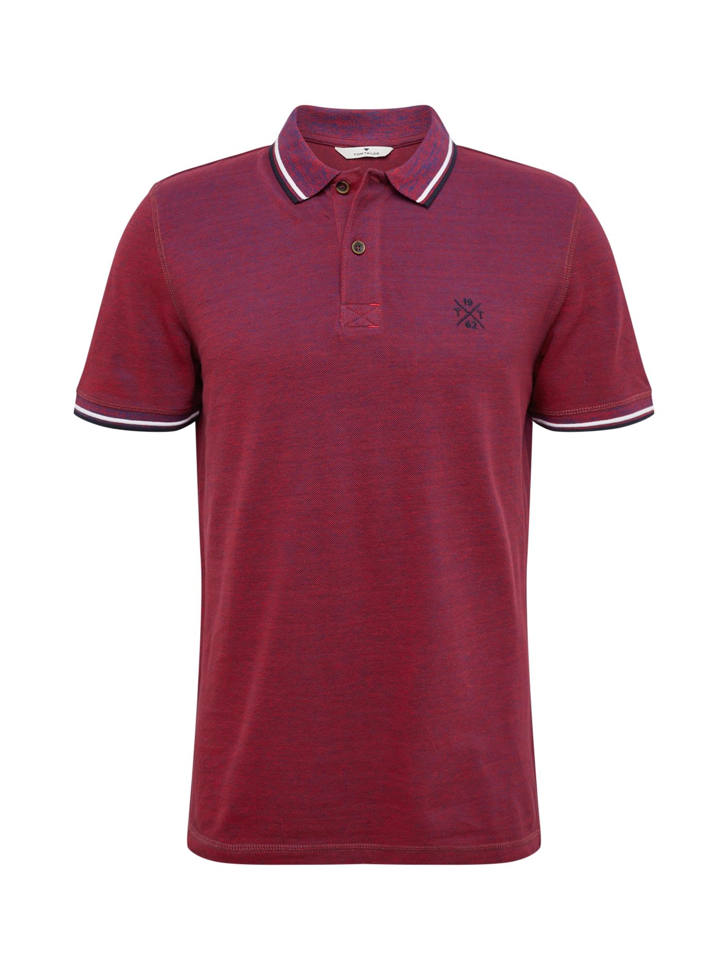 Tričko červená černá bílá TOM TAILOR