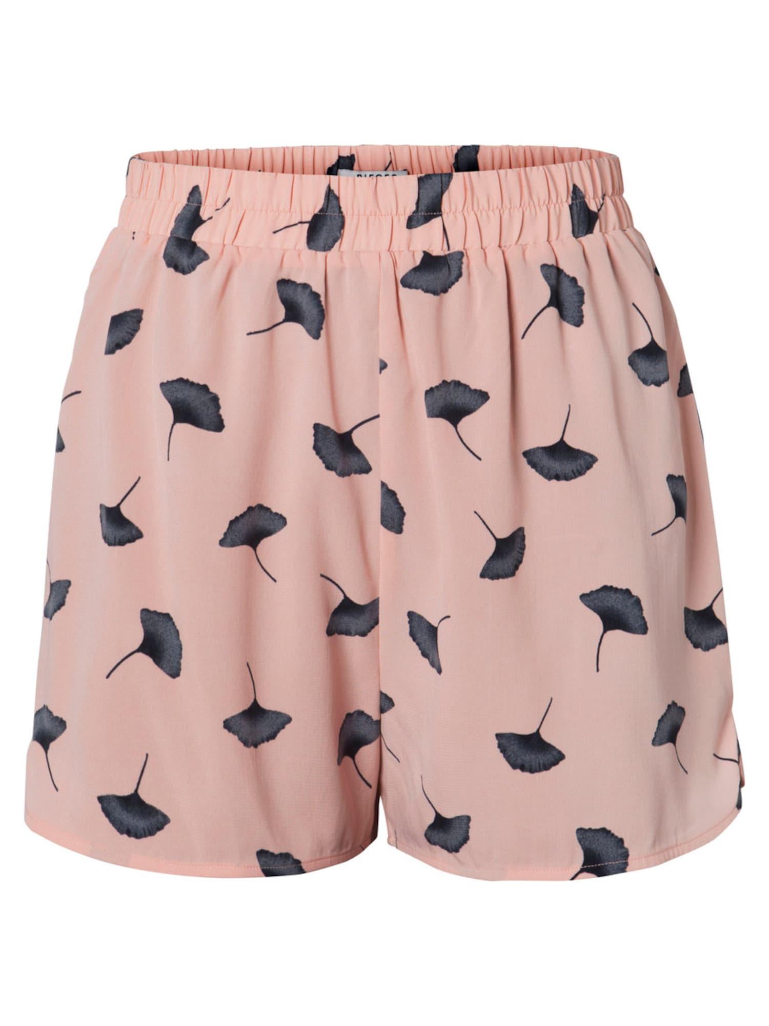 Kalhoty růžová černá PIECES