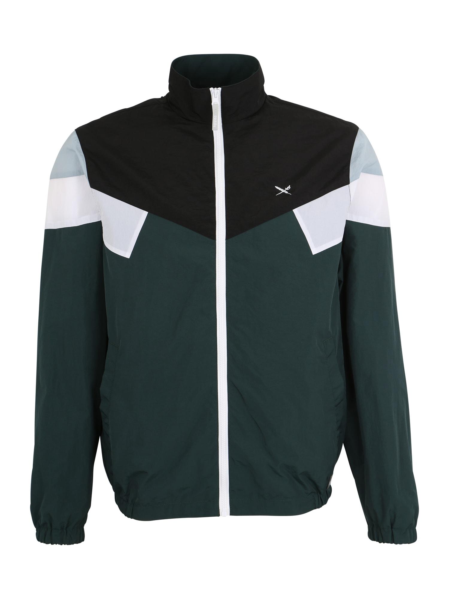 Přechodná bunda Get Down tmavě zelená černá bílá Iriedaily