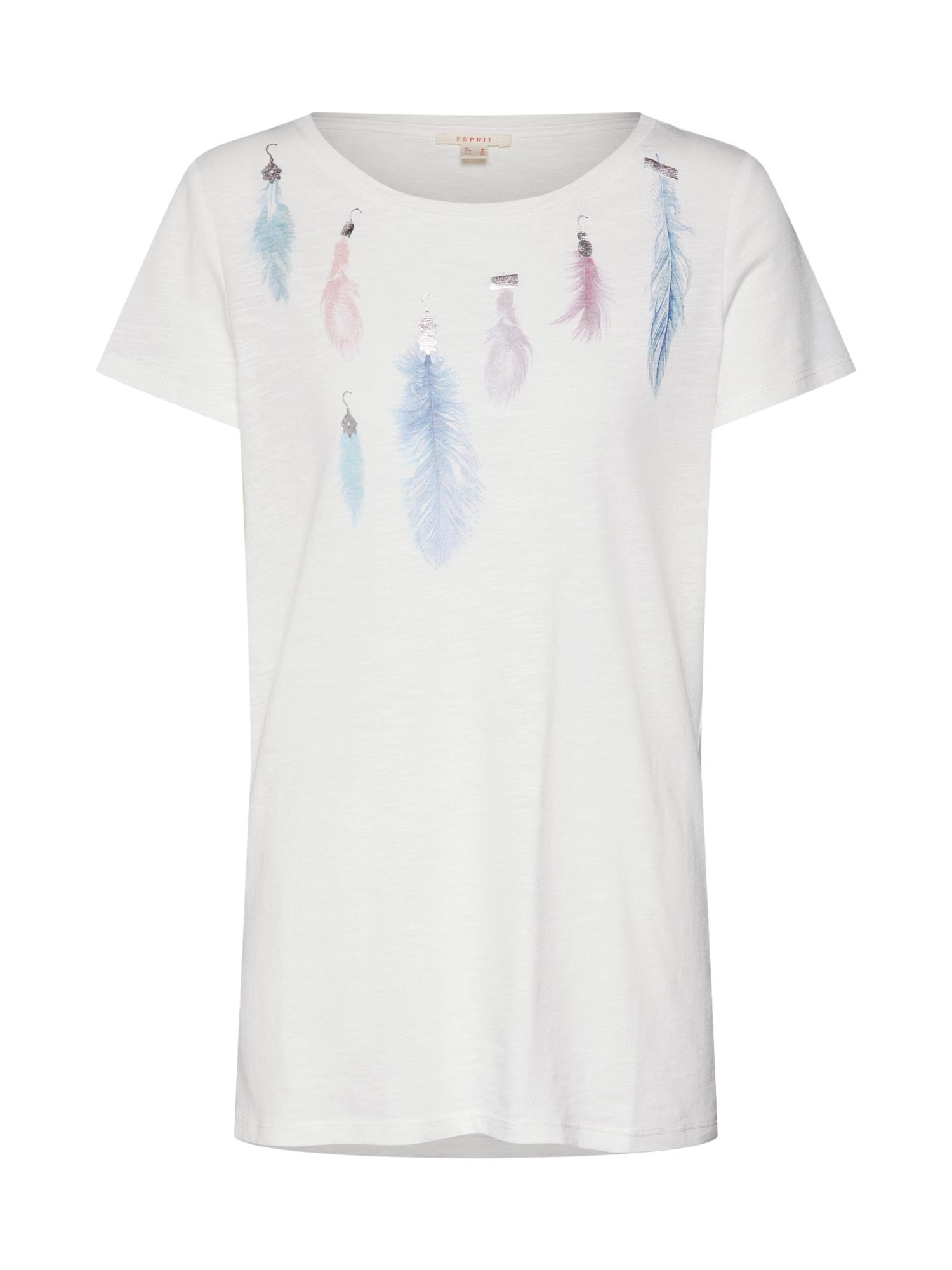 Tričko bílý melír ESPRIT