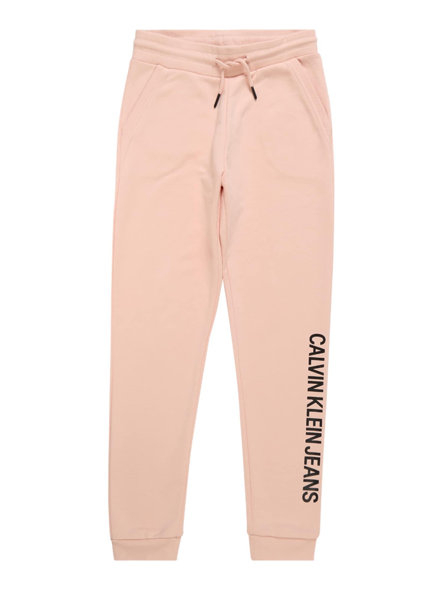 Kalhoty LOGO COTTON TERRY SWEATPANTS růžová Calvin Klein Jeans