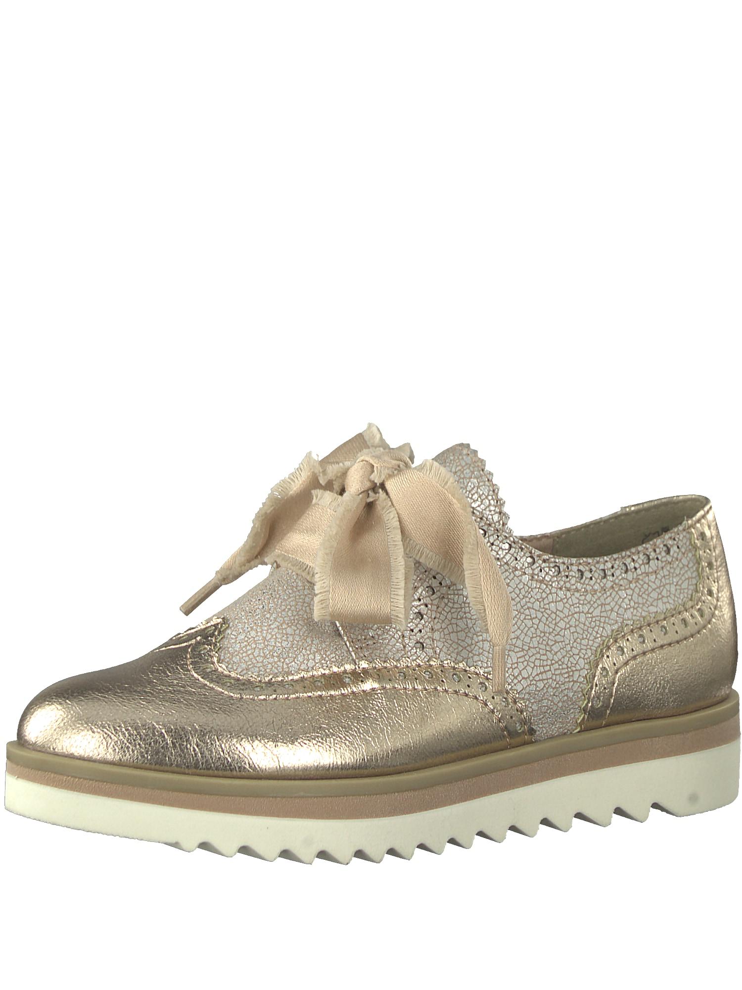 Šněrovací boty béžová zlatá MARCO TOZZI