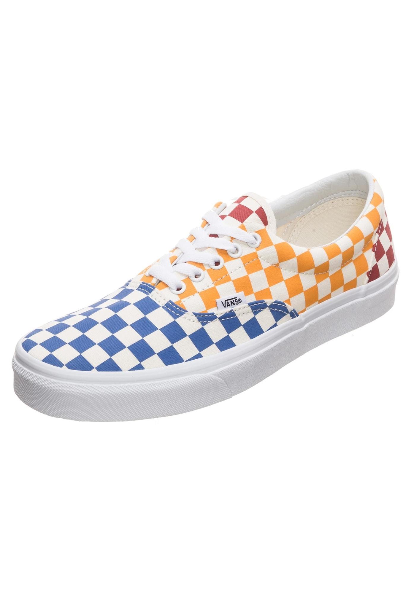 VANS, Heren Sneakers laag 'Era', royal blue/koningsblauw / goudgeel / vuurrood / wit