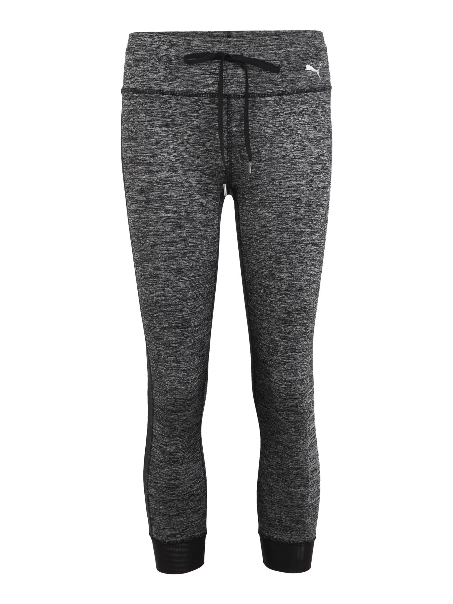 Sportovní kalhoty Explosive Heather tmavě šedá černá PUMA