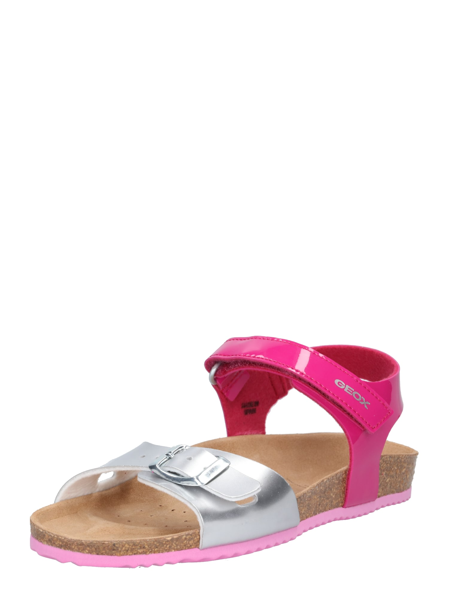 Sandály pink stříbrná GEOX