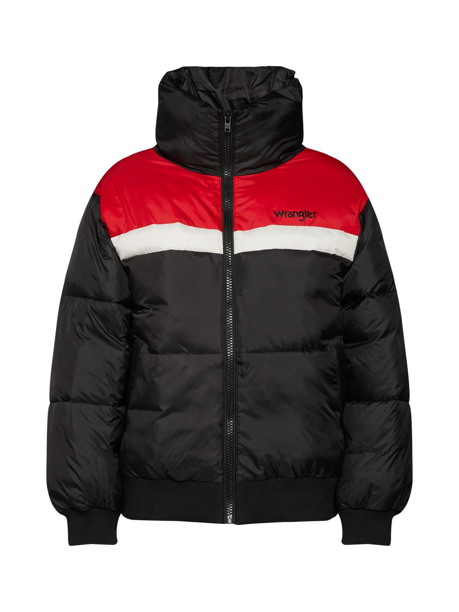 Zimní bunda SKI JACKET světle červená černá bílá WRANGLER