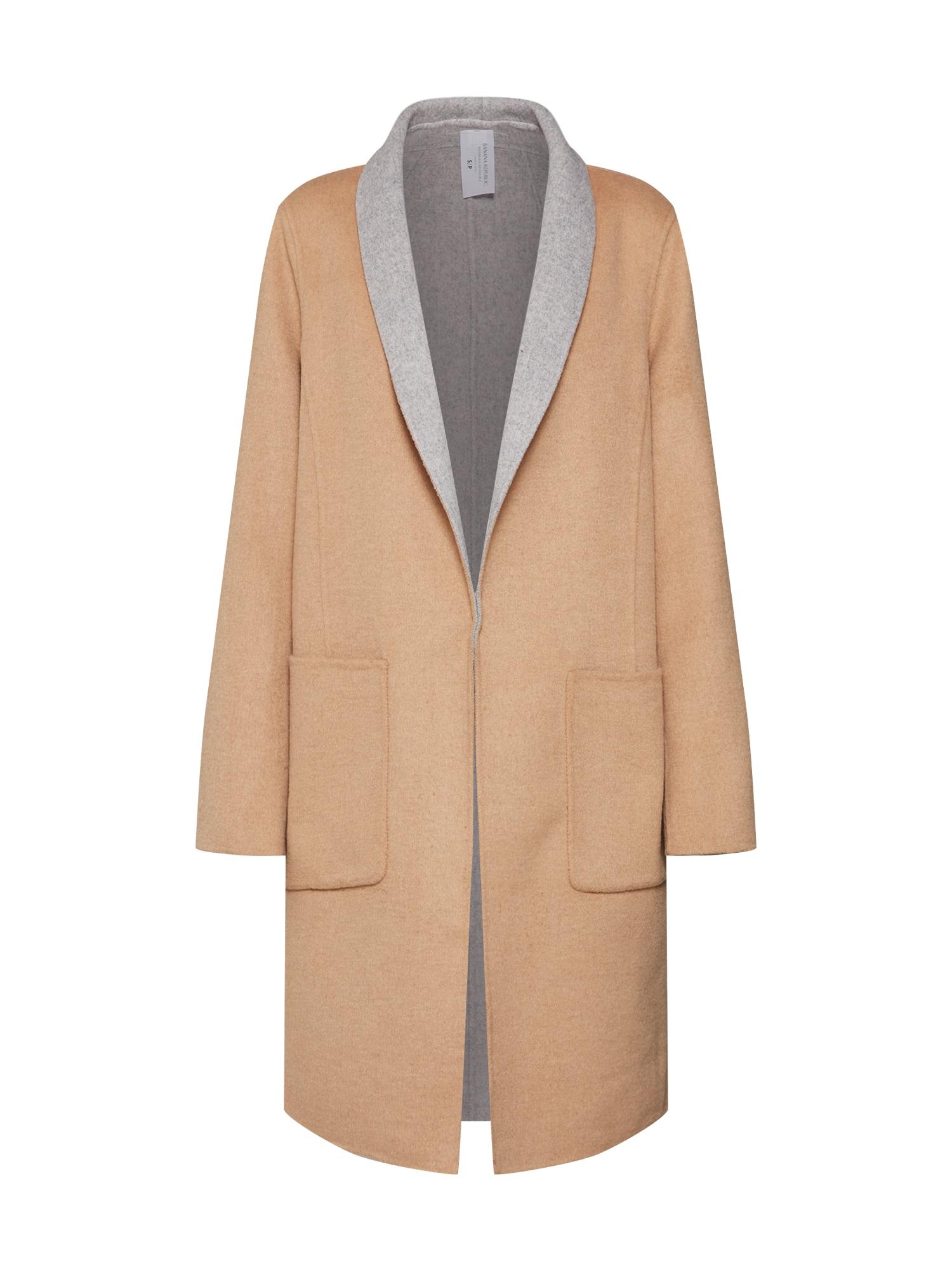 Přechodný kabát REVERSIBLE velbloudí šedá Banana Republic