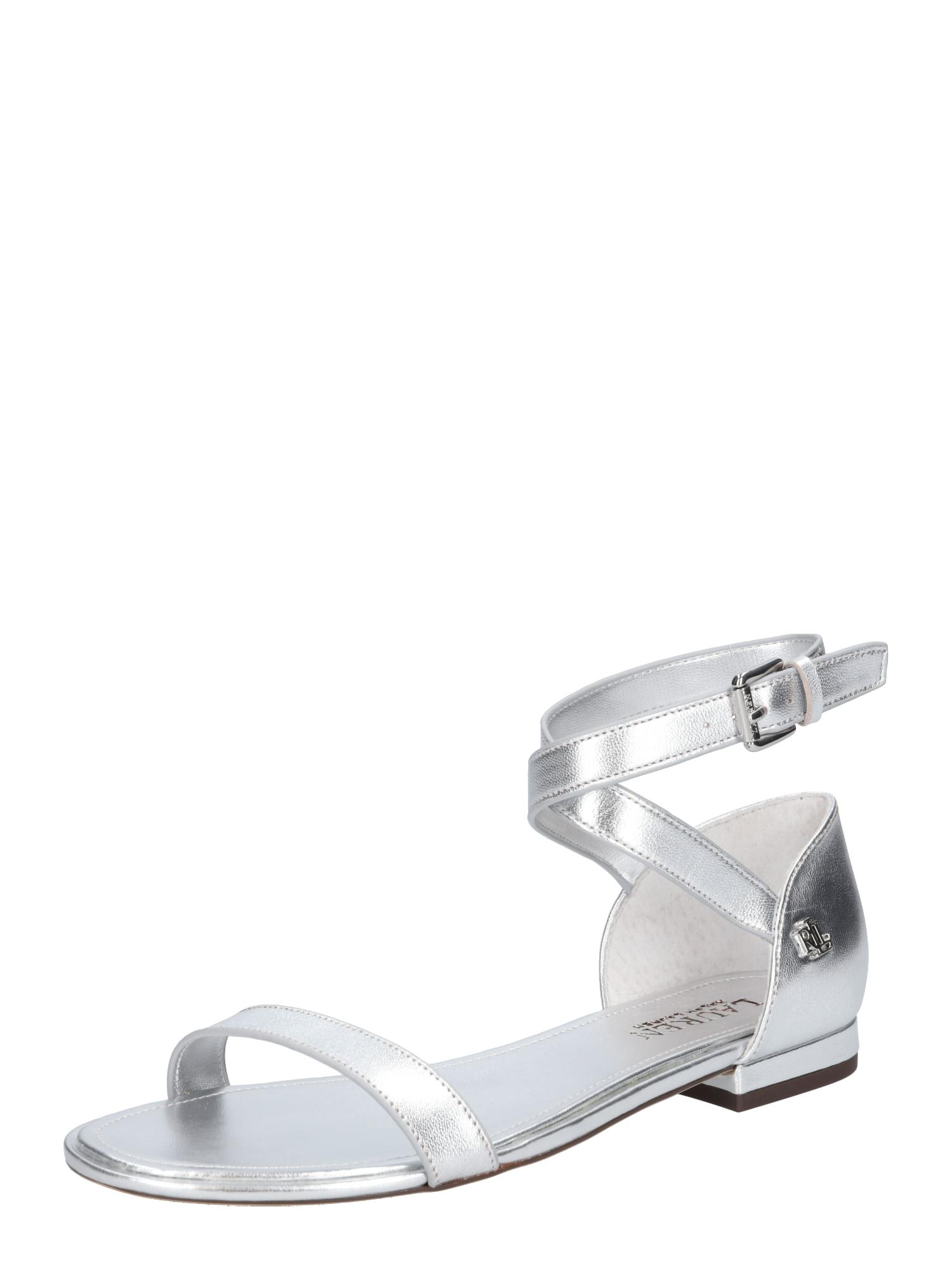 Sandály Davison stříbrná Lauren Ralph Lauren