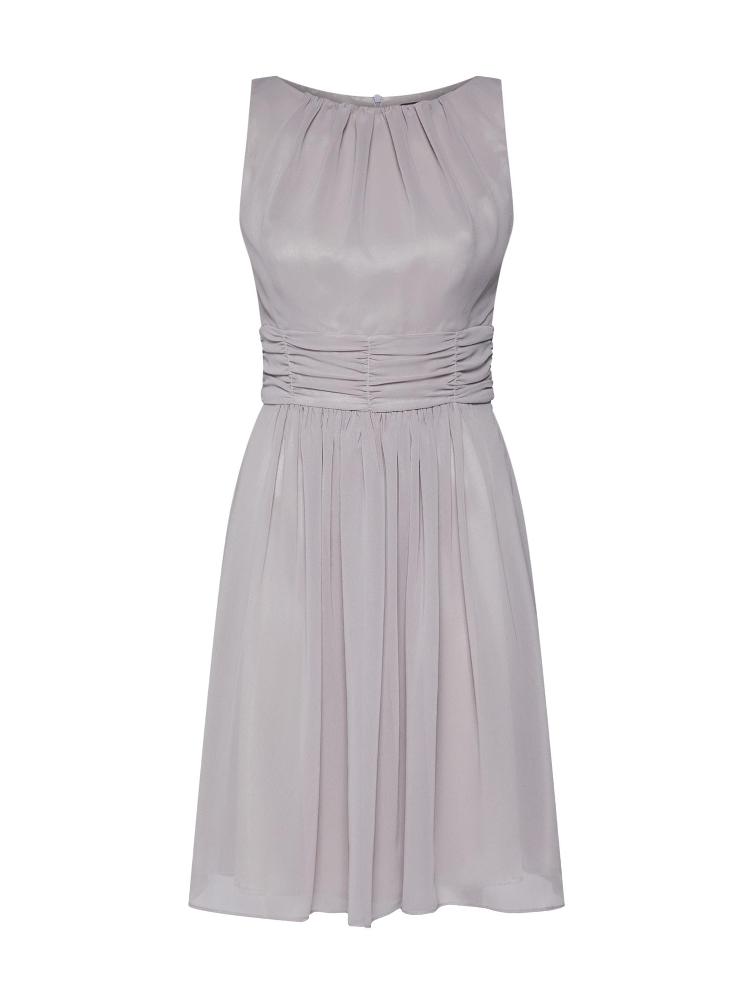 Koktejlové šaty světle hnědá SWING