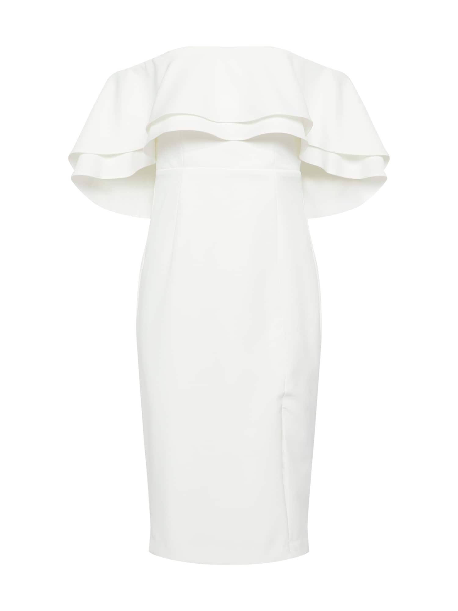 Koktejlové šaty BAND slonová kost Bardot