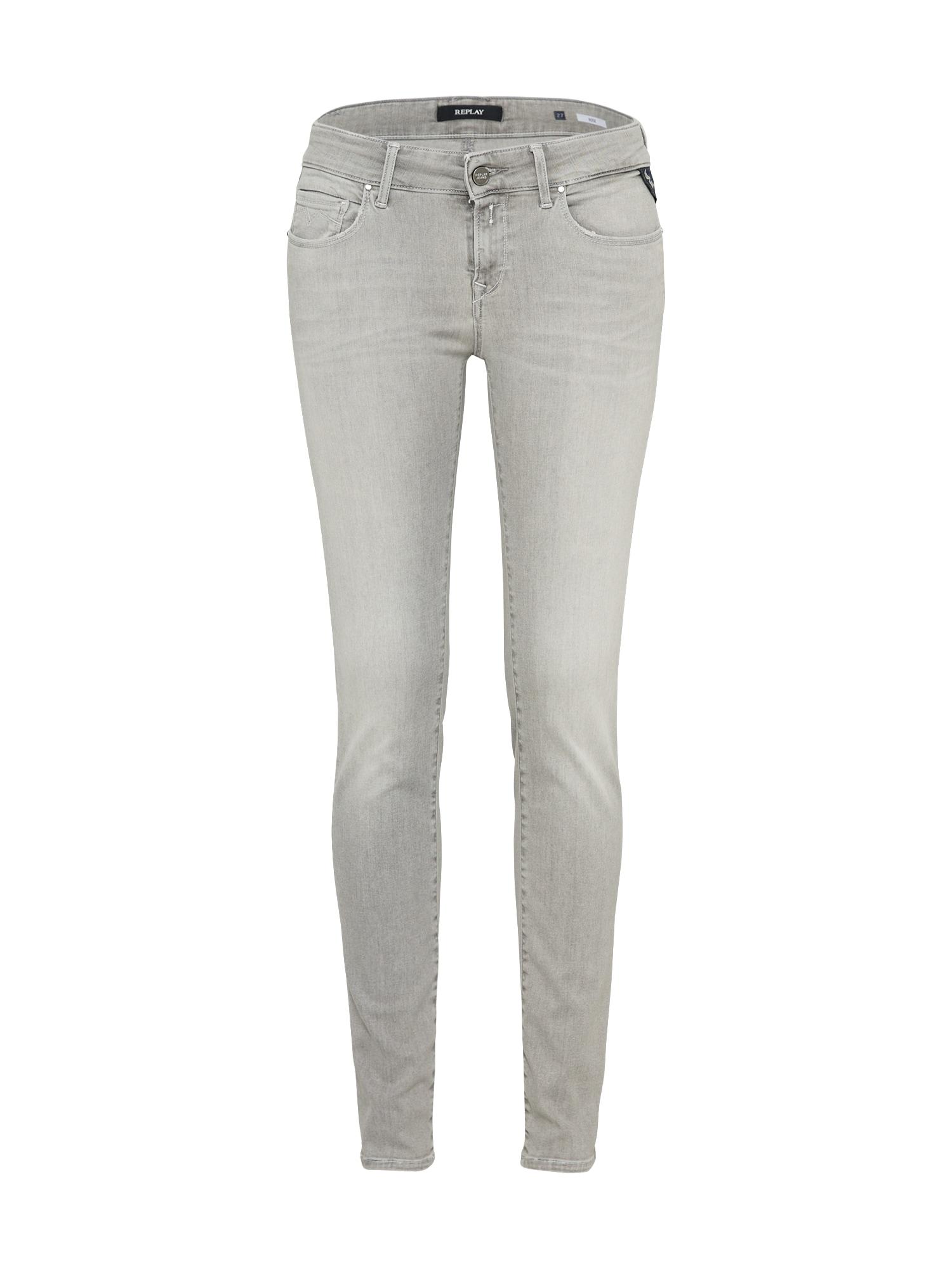 REPLAY Dames Jeans ROSE grey denim