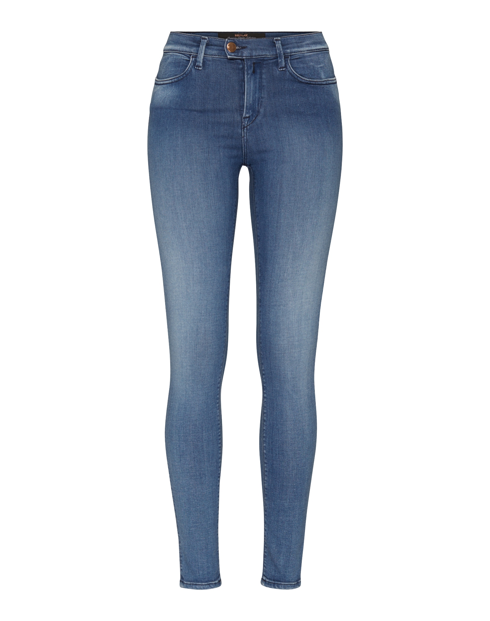 REPLAY Dames Jeans Touch blue denim