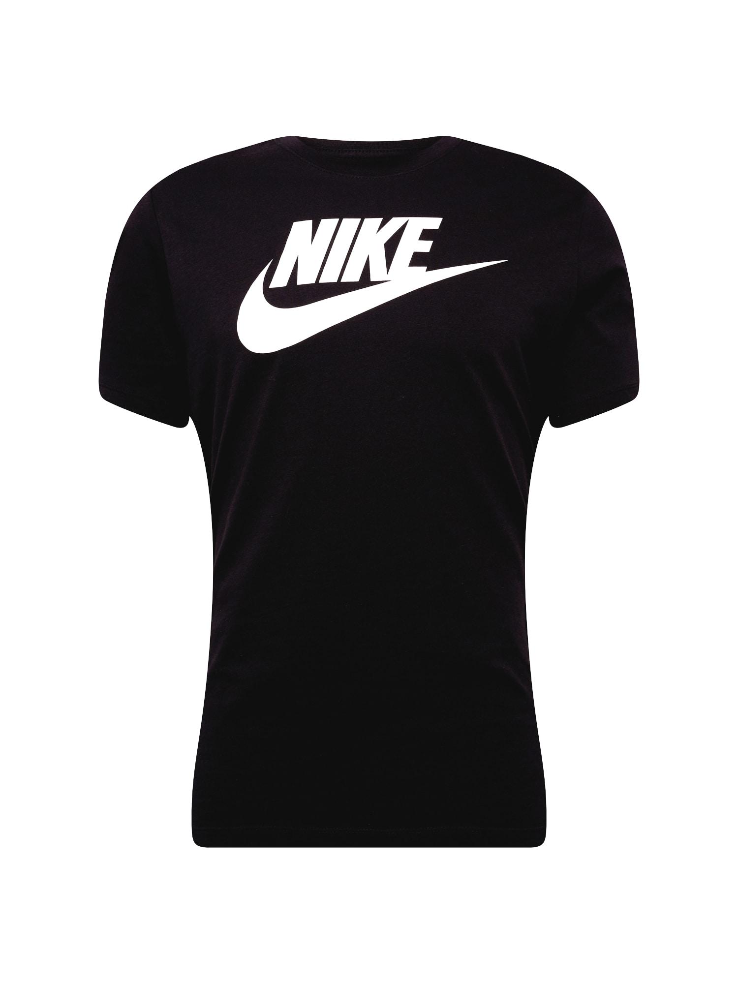 Tričko černá bílá Nike Sportswear