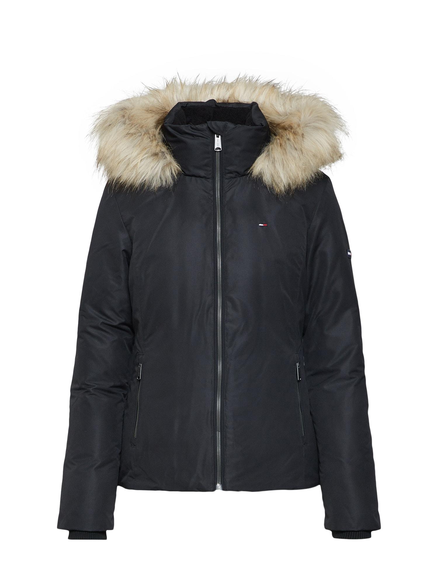 Zimní bunda černá Tommy Jeans