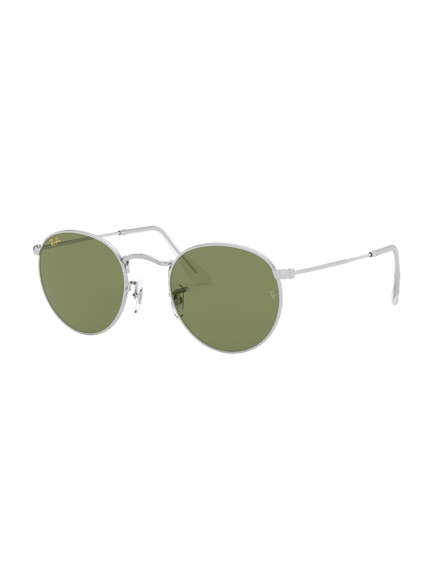 Ray-Ban Sluneční brýle 'Round metal'  šedá / stříbrná