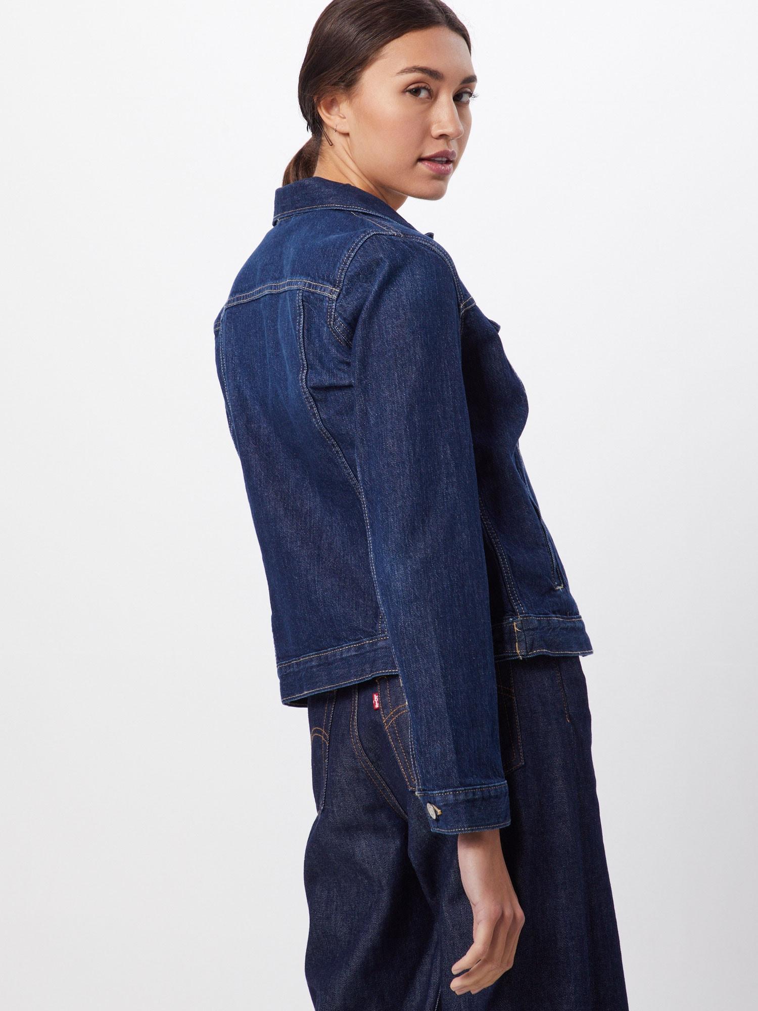 GAP Přechodná bunda  indigo / tmavě modrá