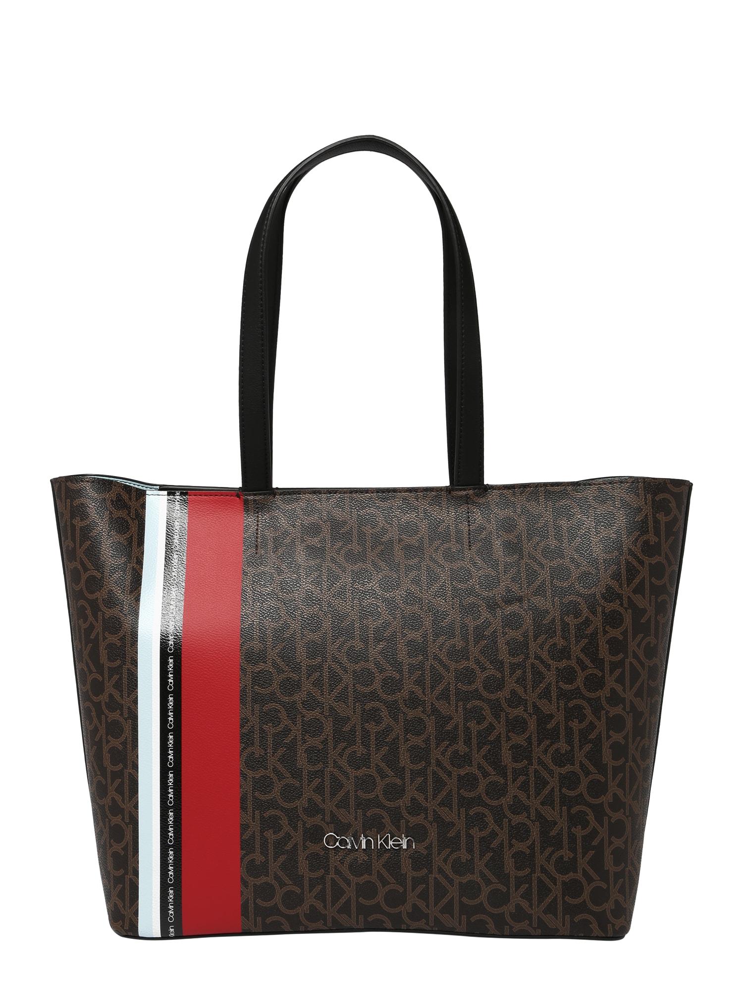 Nákupní taška MONOGRAM EW STR hnědá Calvin Klein