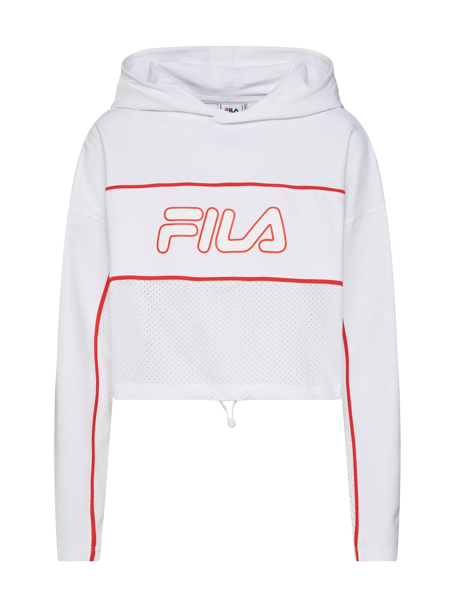 Mikina ROMY Hooded Shirt  červená  bílá FILA