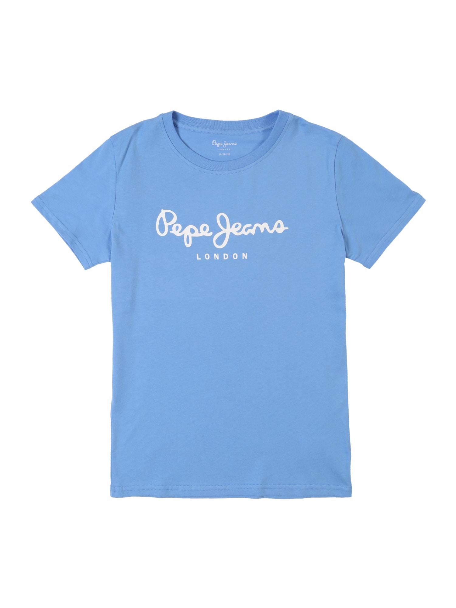 Tričko ART nebeská modř bílá Pepe Jeans