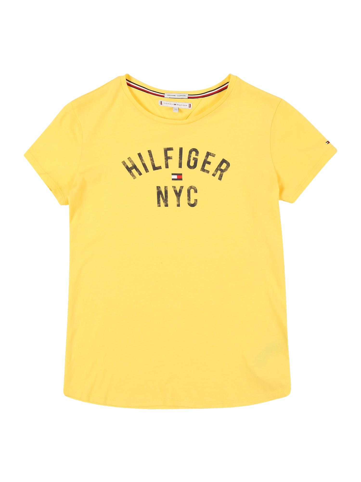 Tričko ESSENTIAL TOMMY PRIN žlutá TOMMY HILFIGER