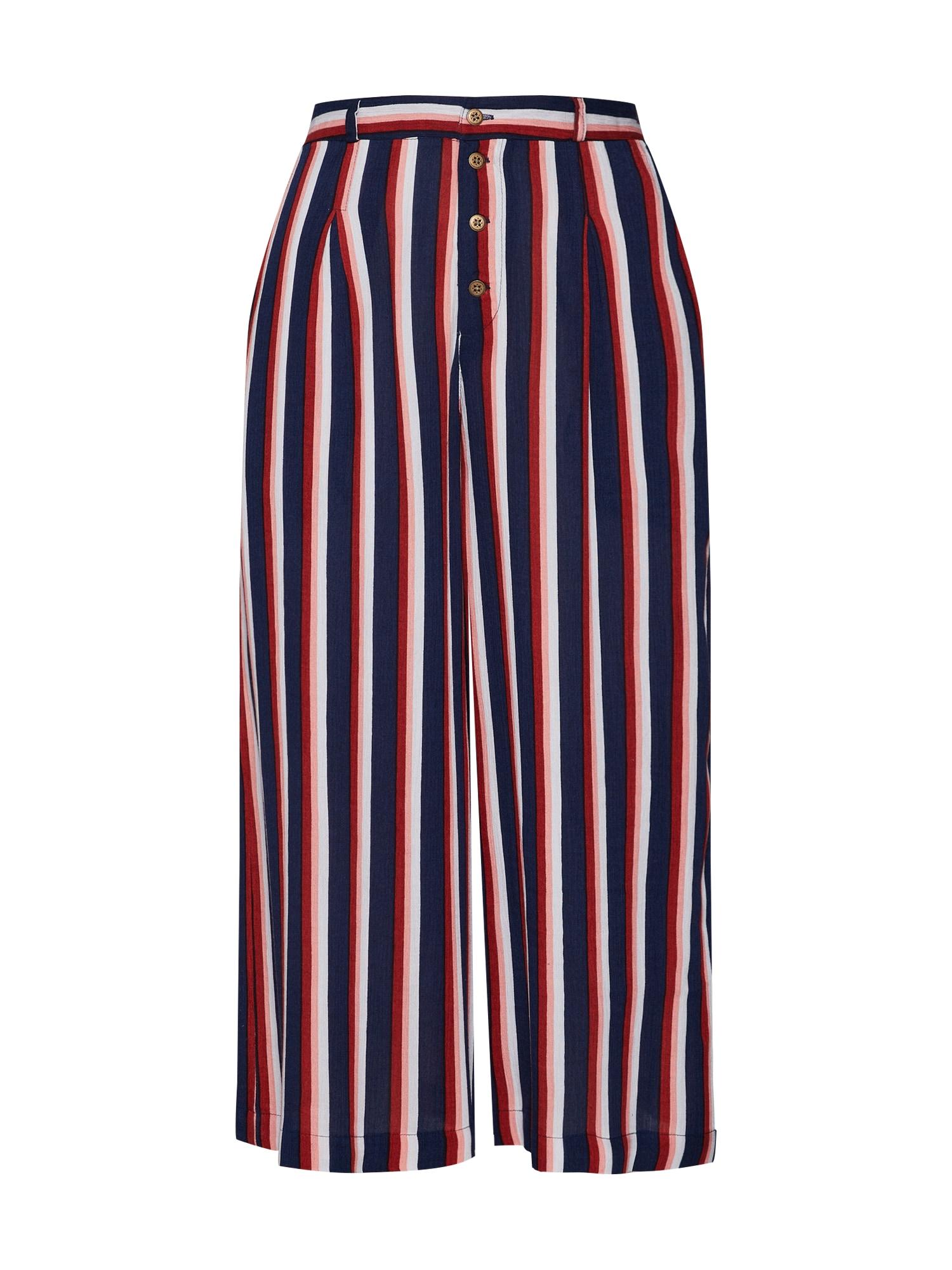 Kalhoty se sklady v pase Aluna námořnická modř červená bílá ELEMENT
