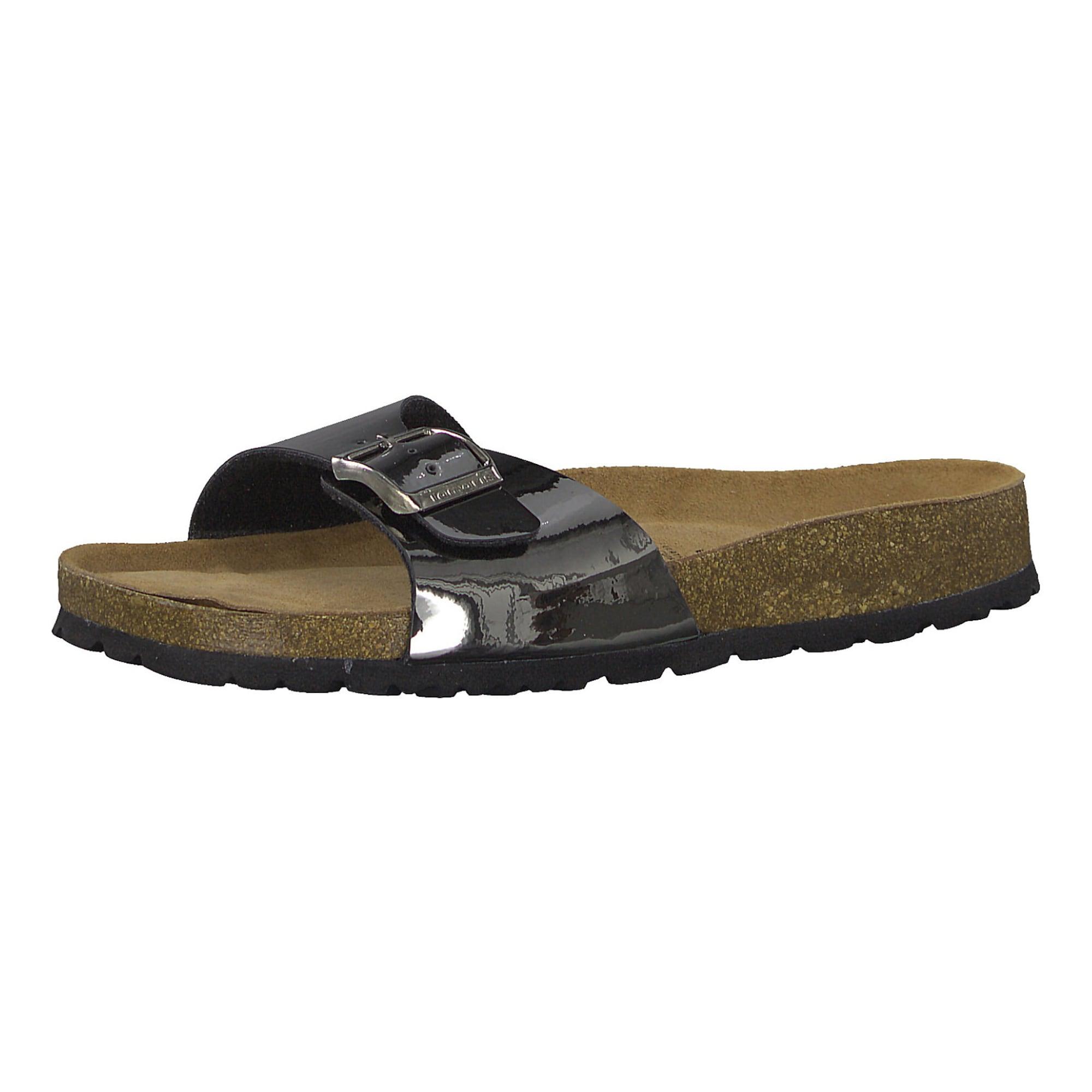 Pantofle hnědá antracitová TAMARIS