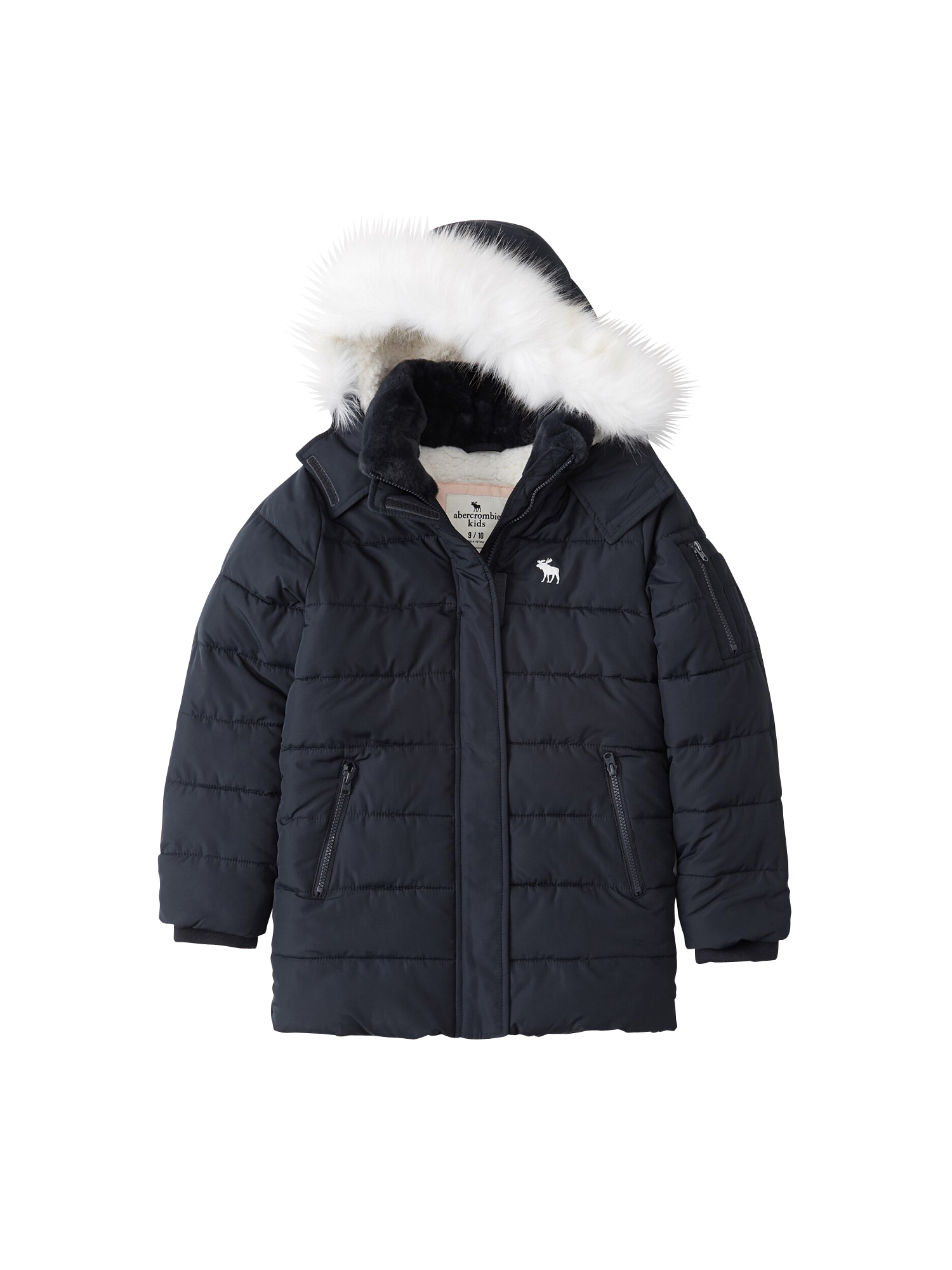 Abercrombie & Fitch Zimní bunda 'ADVENTURE PARKA 4CC'  námořnická modř
