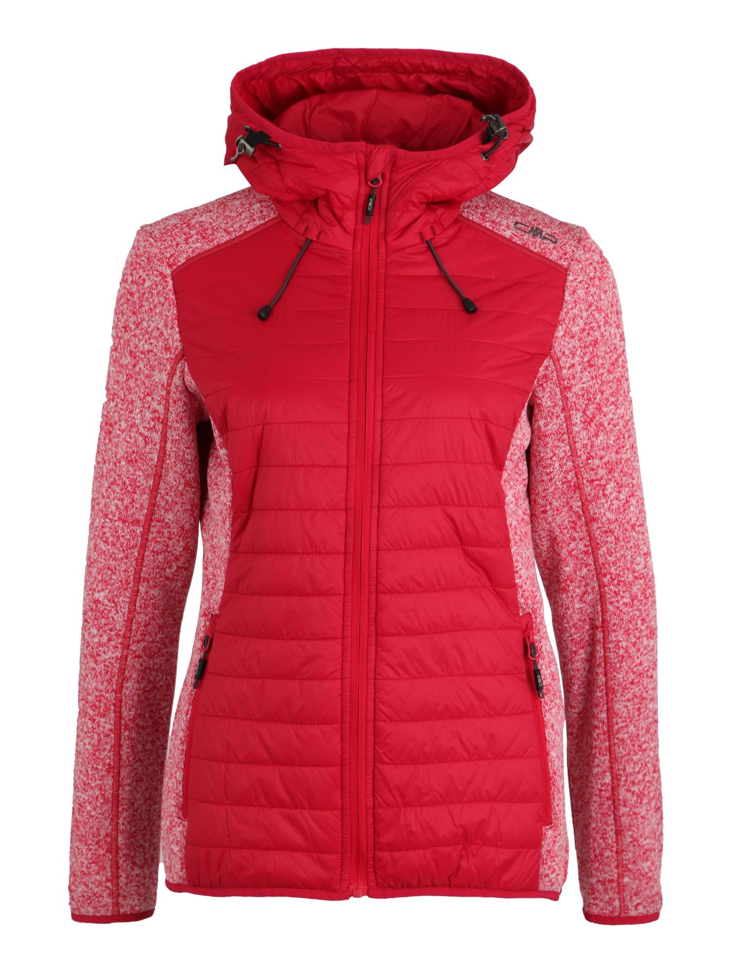 Outdoorová bunda HYBRID červená CMP