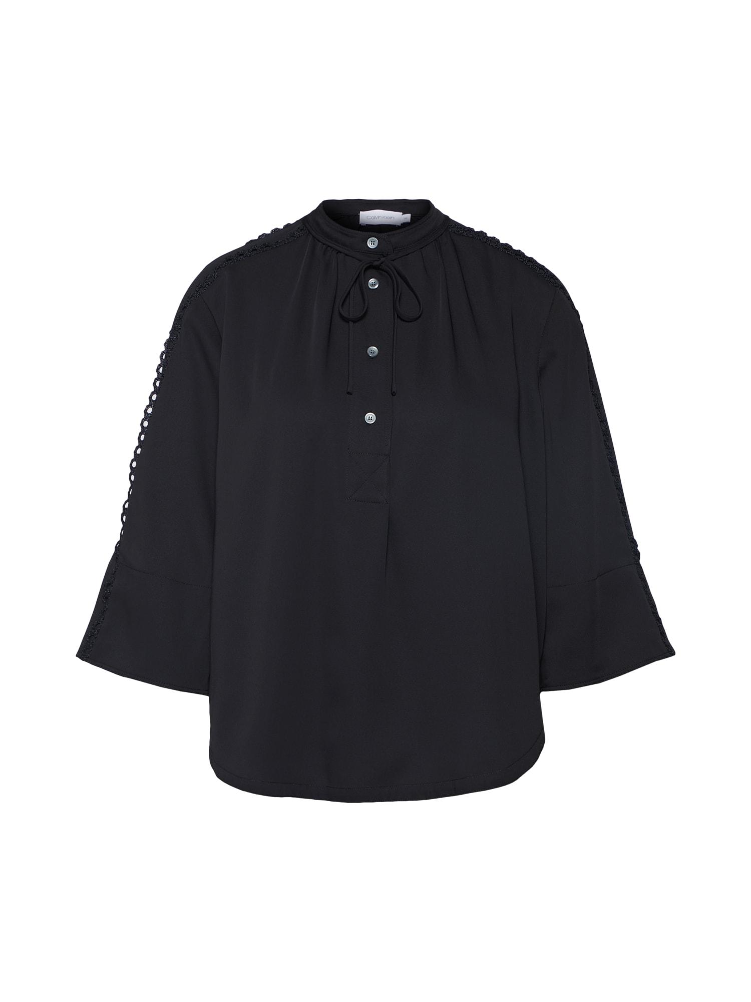Halenka LACE TRIM černá Calvin Klein
