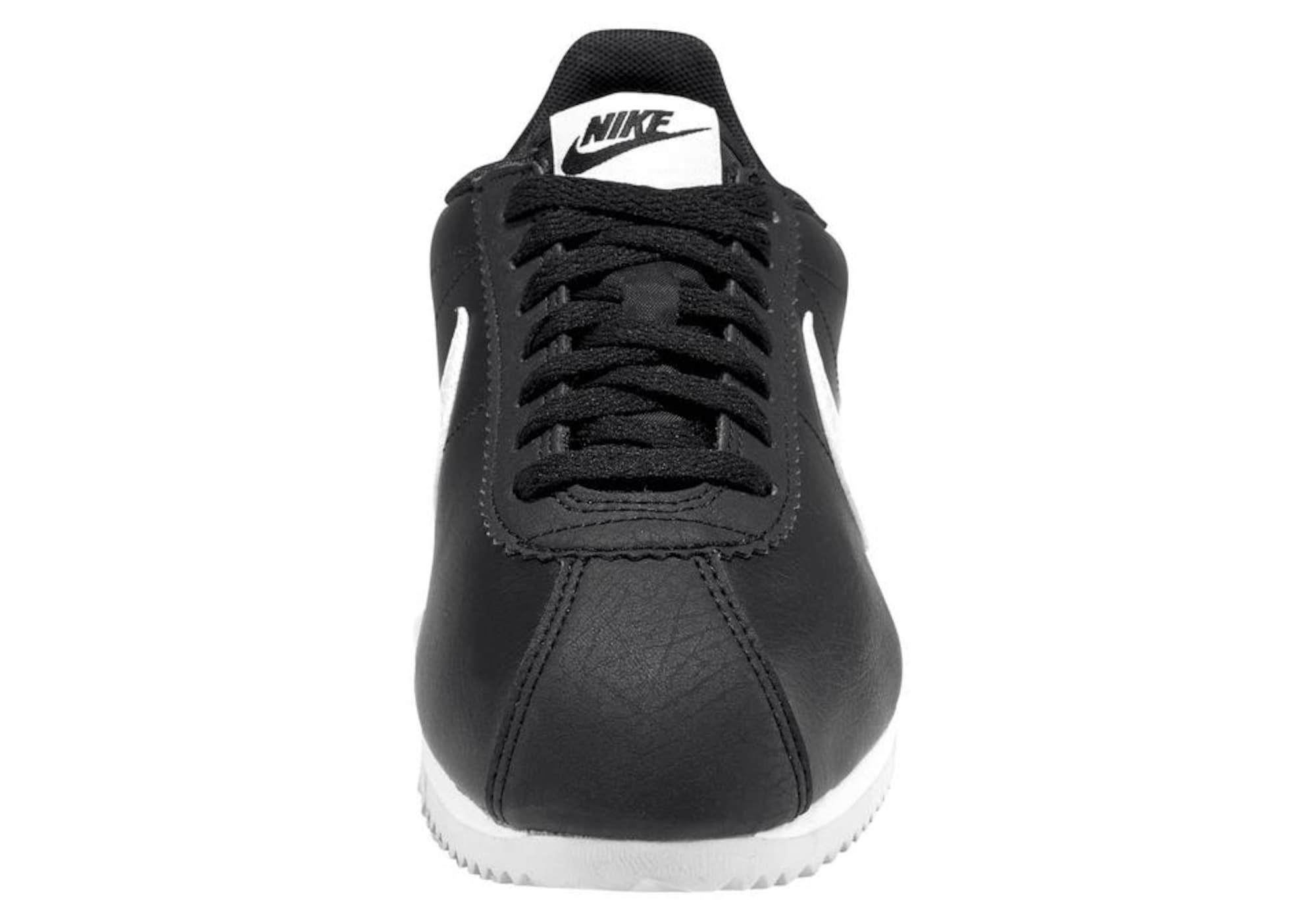 Nike Sportswear Trampki niskie 'Classic Cortez Leather'  czarny