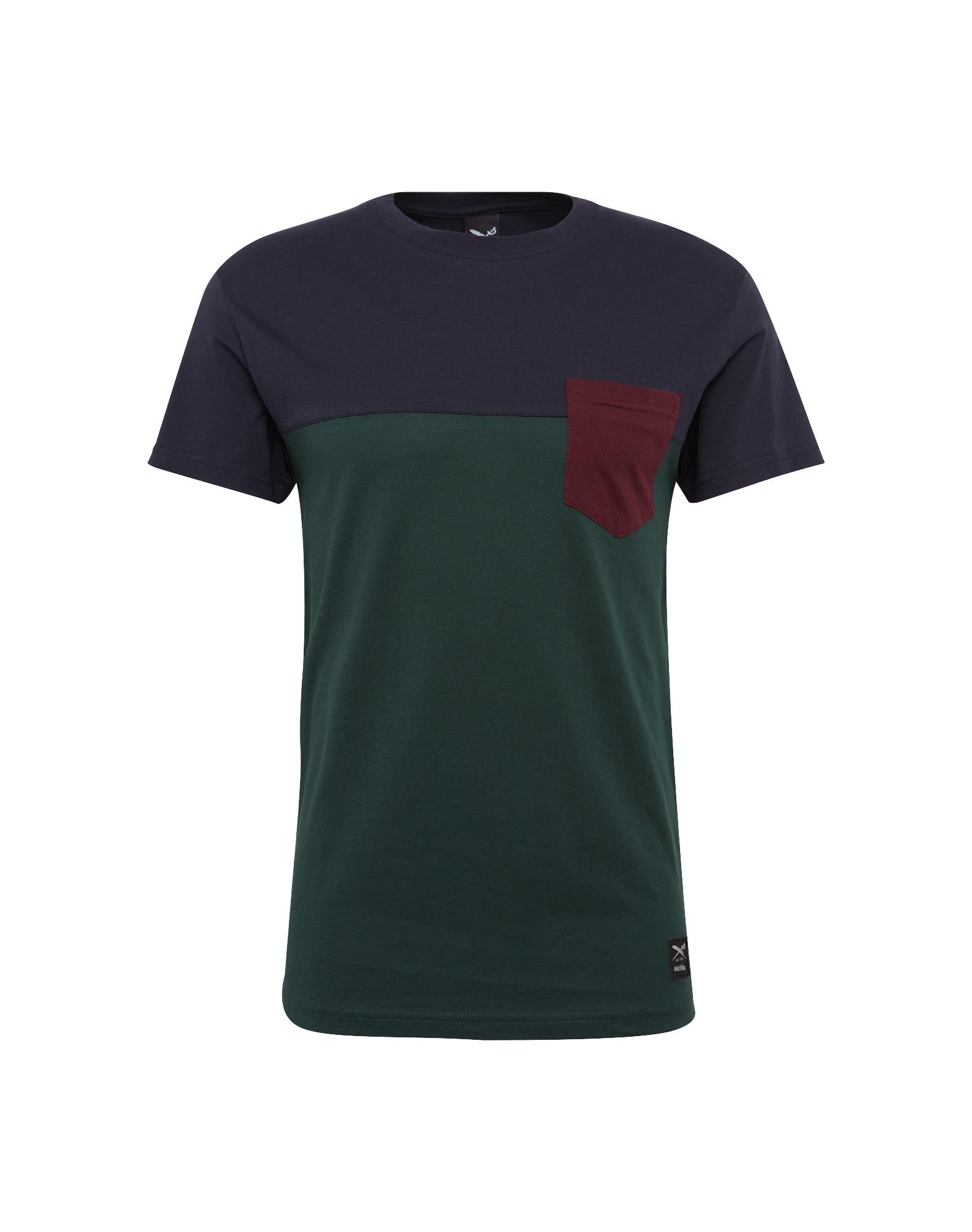 Tričko tmavě modrá tmavě zelená bordó Iriedaily
