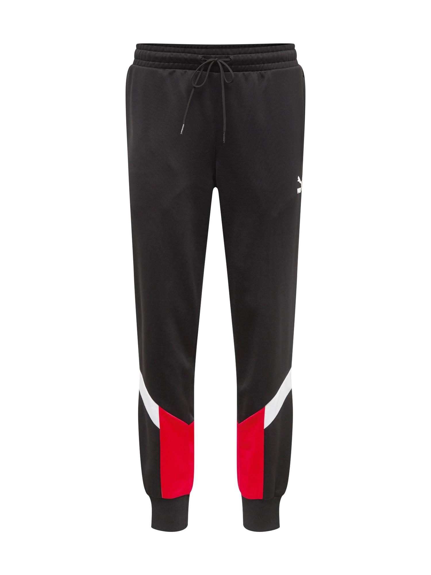 Kalhoty Iconic MCS Cuff červená černá bílá PUMA