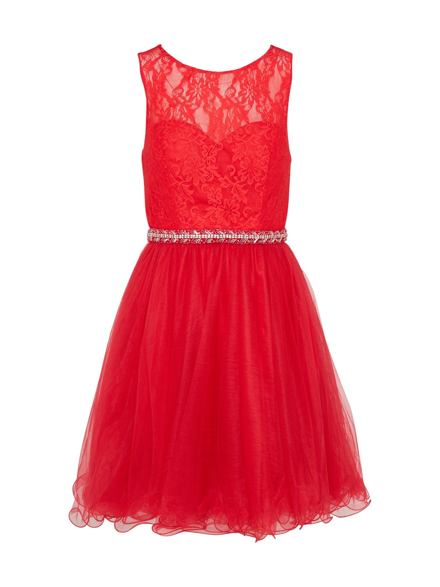 Koktejlové šaty červená Laona