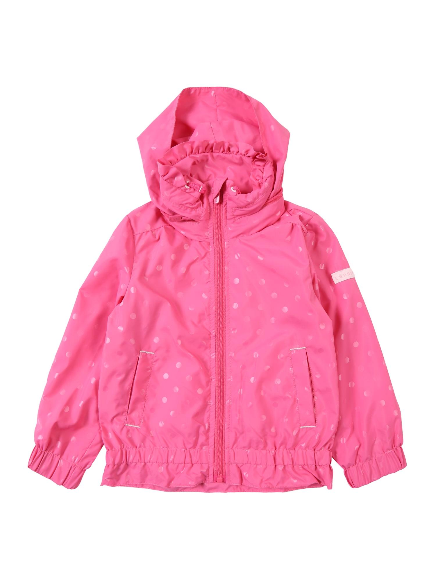 Přechodná bunda pink bílá ESPRIT