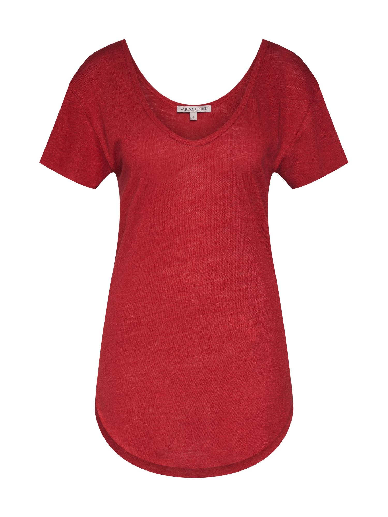Tričko AMBER červená Farina Opoku