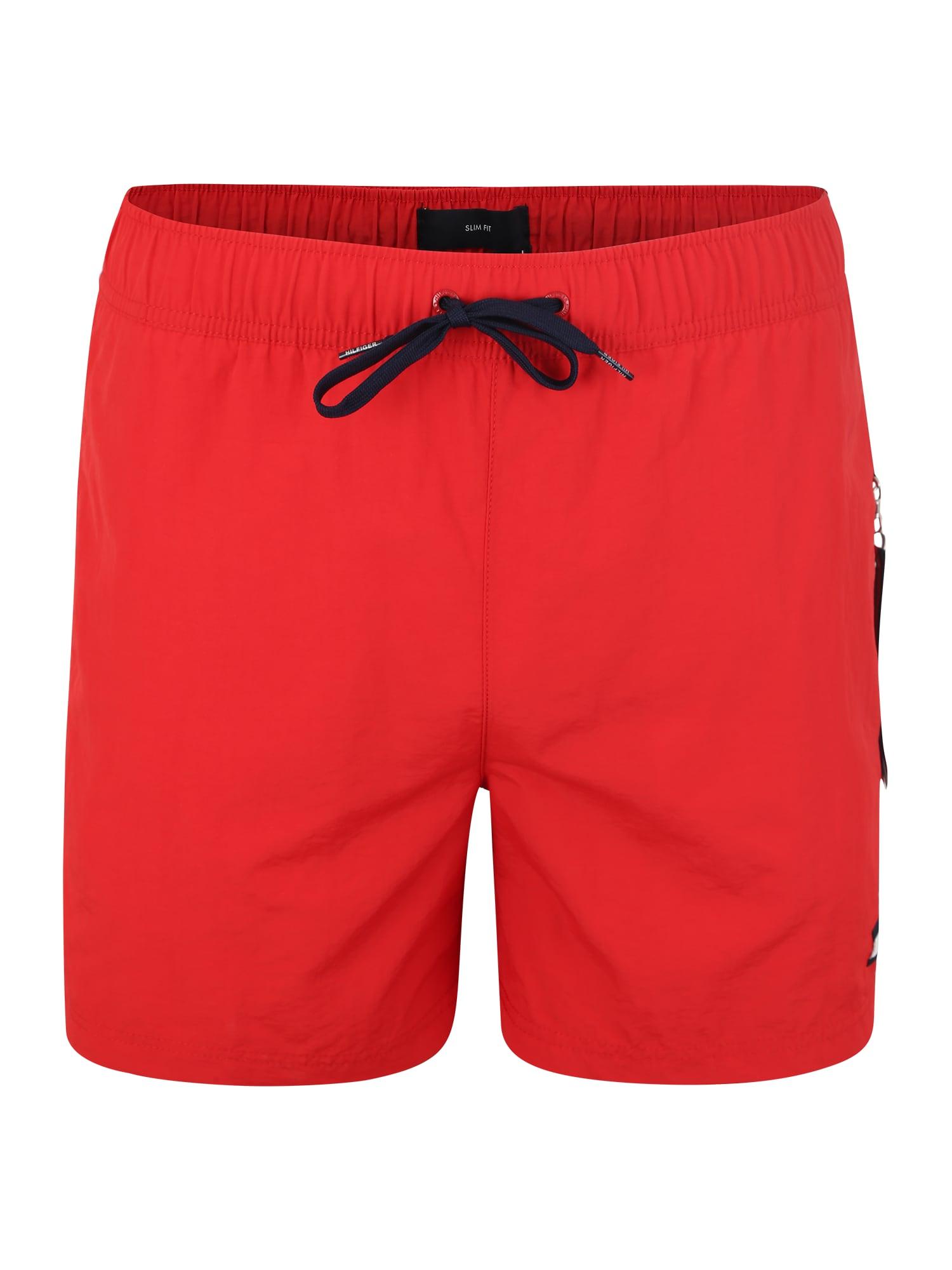 Plavecké šortky SF MEDIUM DRAWSTRING červená Tommy Hilfiger Underwear