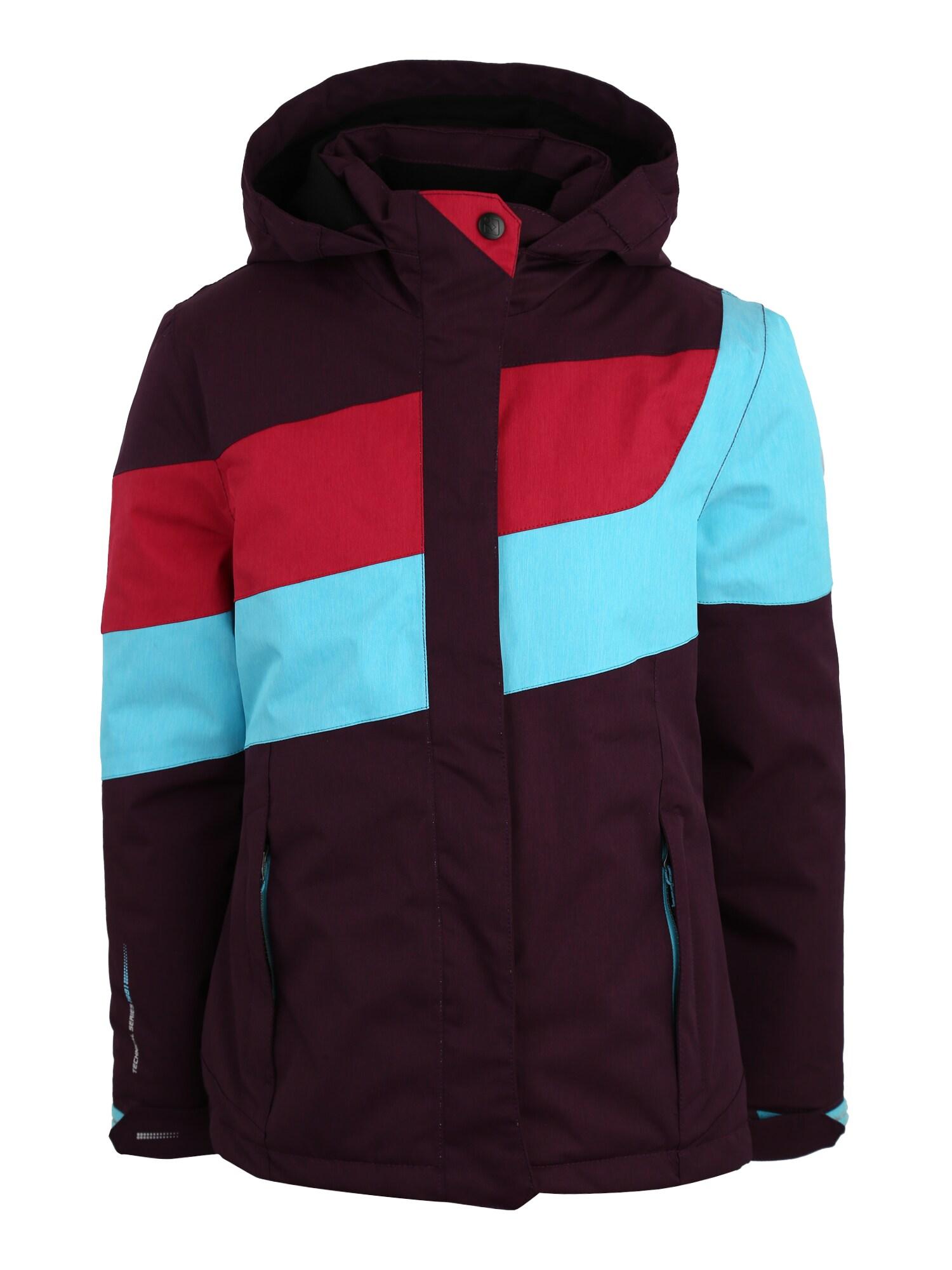 Sportovní bunda Maddalena světlemodrá švestková světle červená KILLTEC