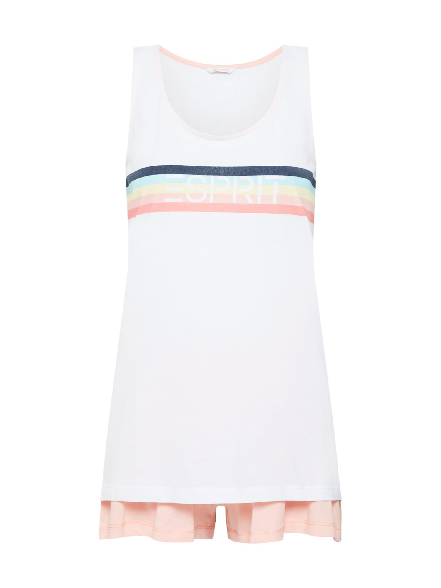 Pyžamo BECCA mix barev bílá ESPRIT