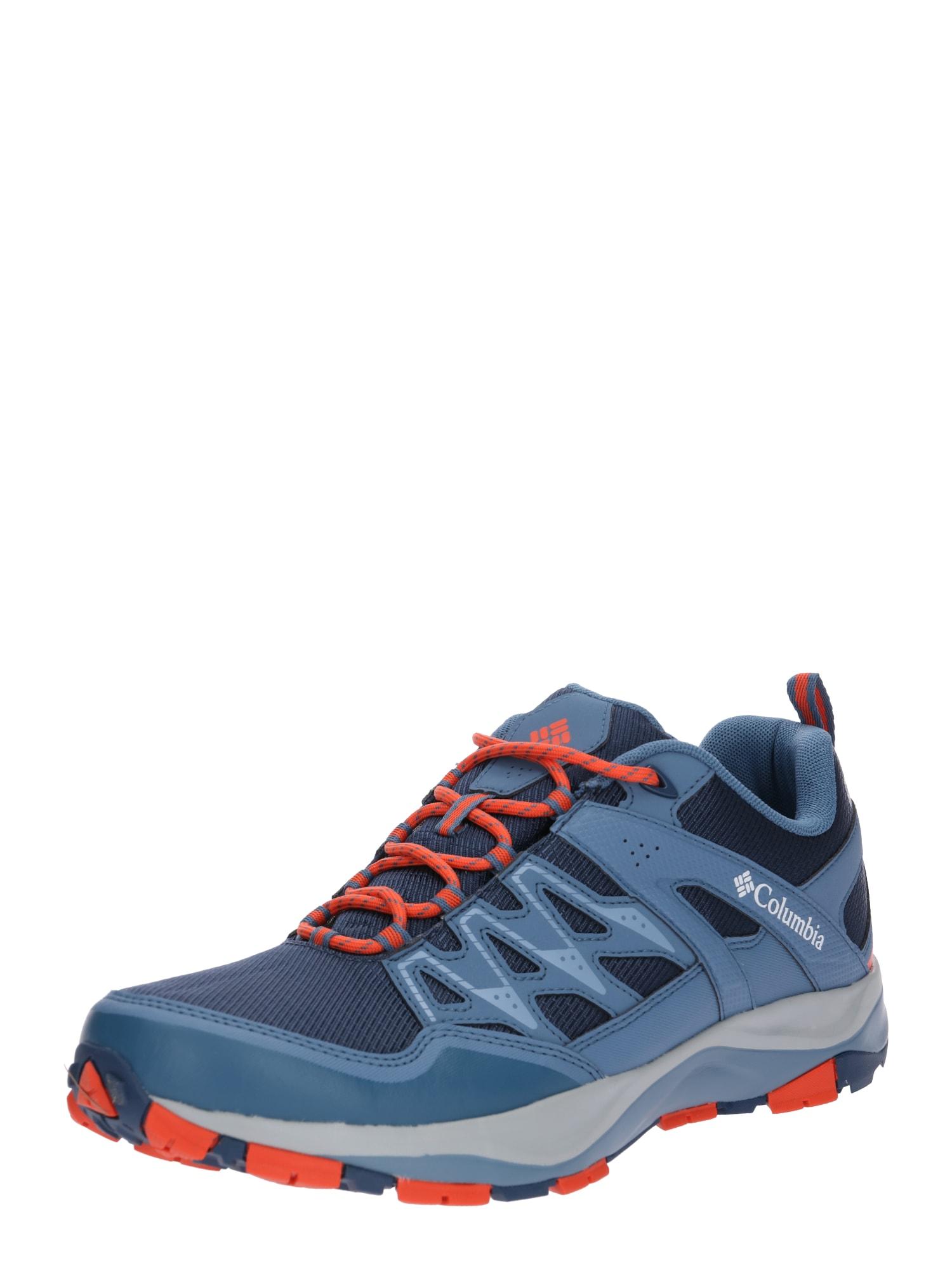 Sportovní boty WAYFINDER OUTDRY kouřově modrá červená COLUMBIA