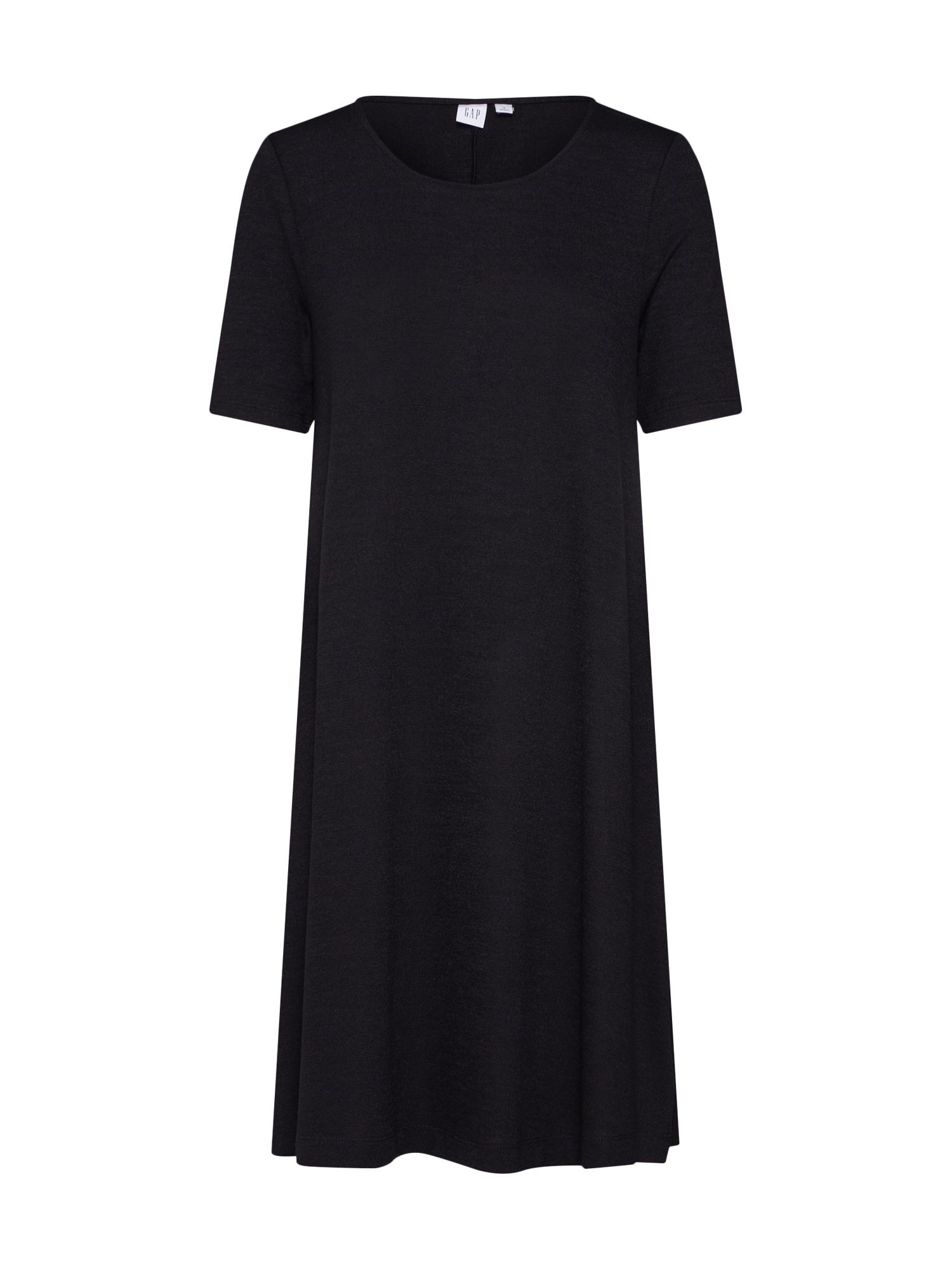 Letní šaty SSSFTSPNSWNGDRS-MARL černá GAP